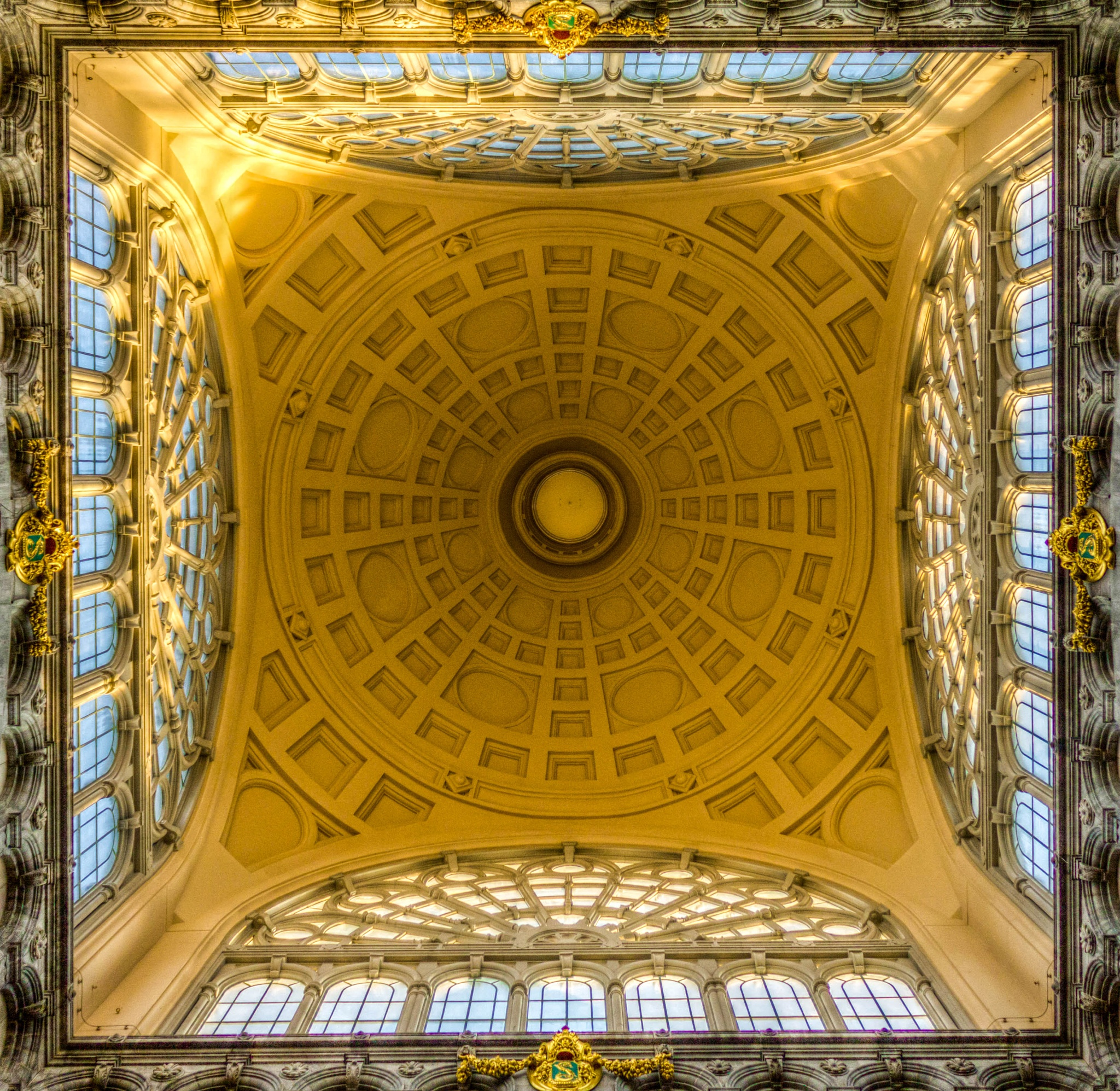 Ceiling of Antwerp cetral station by Kashif Yusufzai