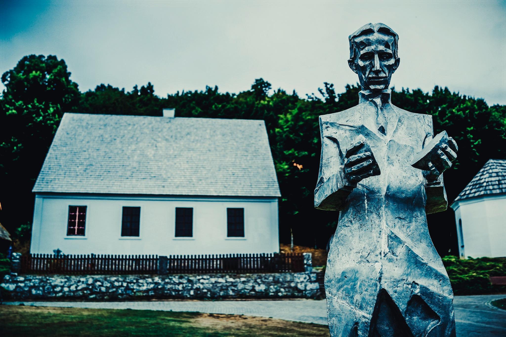 NIKOLA TESLA AT HIS  HOME  by Goran Jorganovich