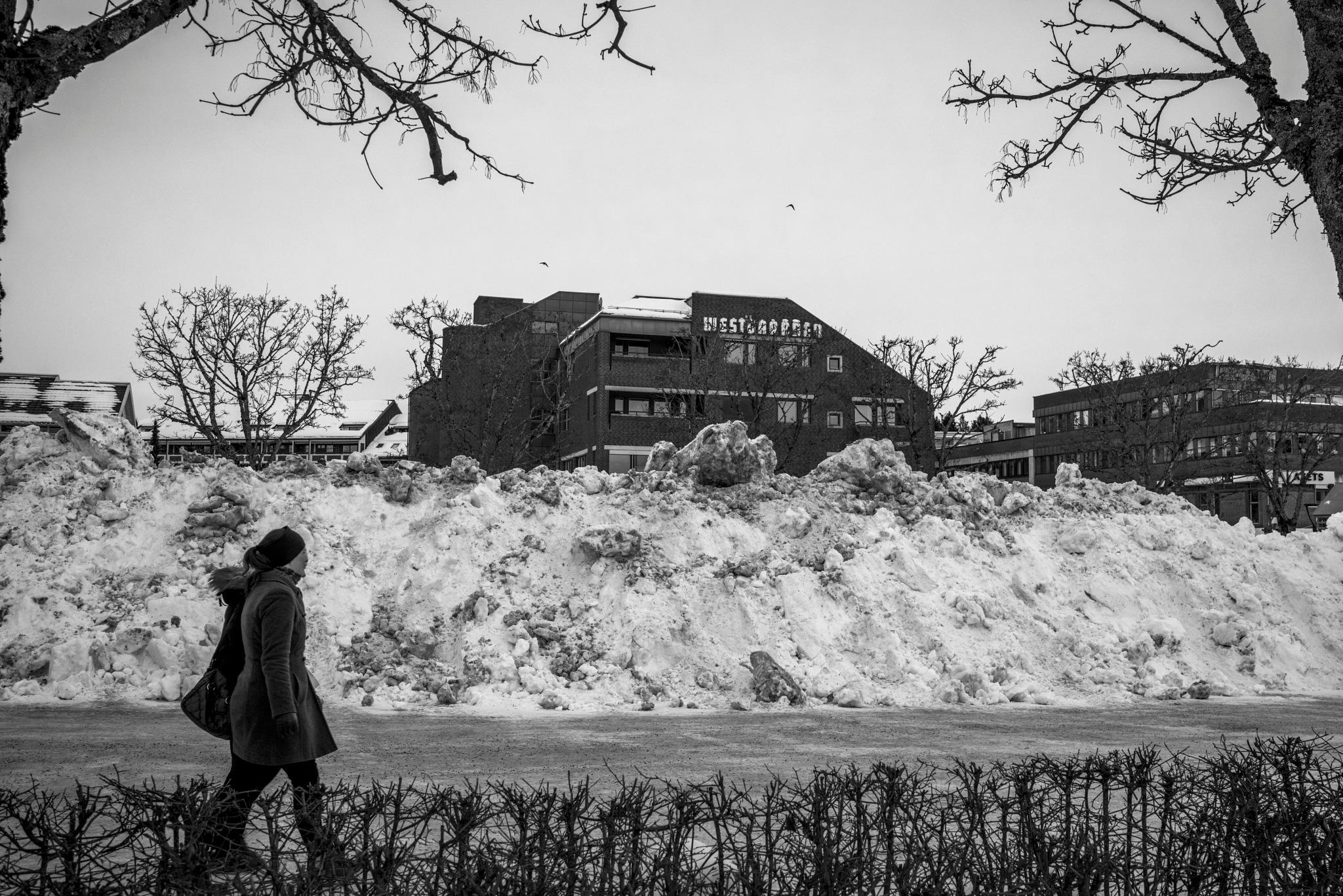 Snowy Streets in Norway by Goran Jorganovich
