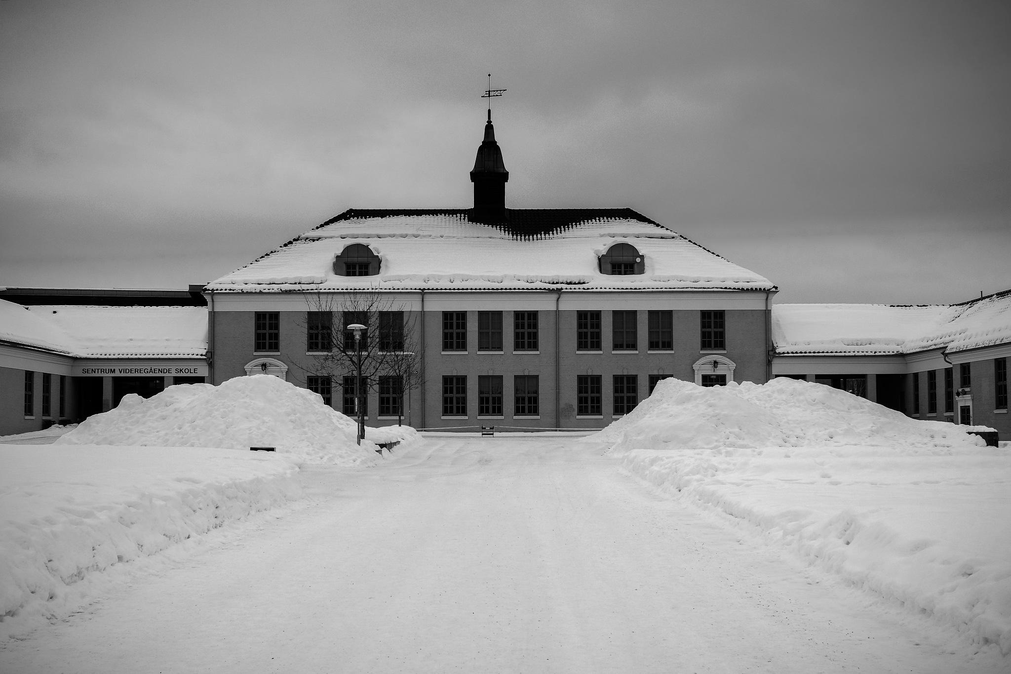 Norwegian School in winter by Goran Jorganovich