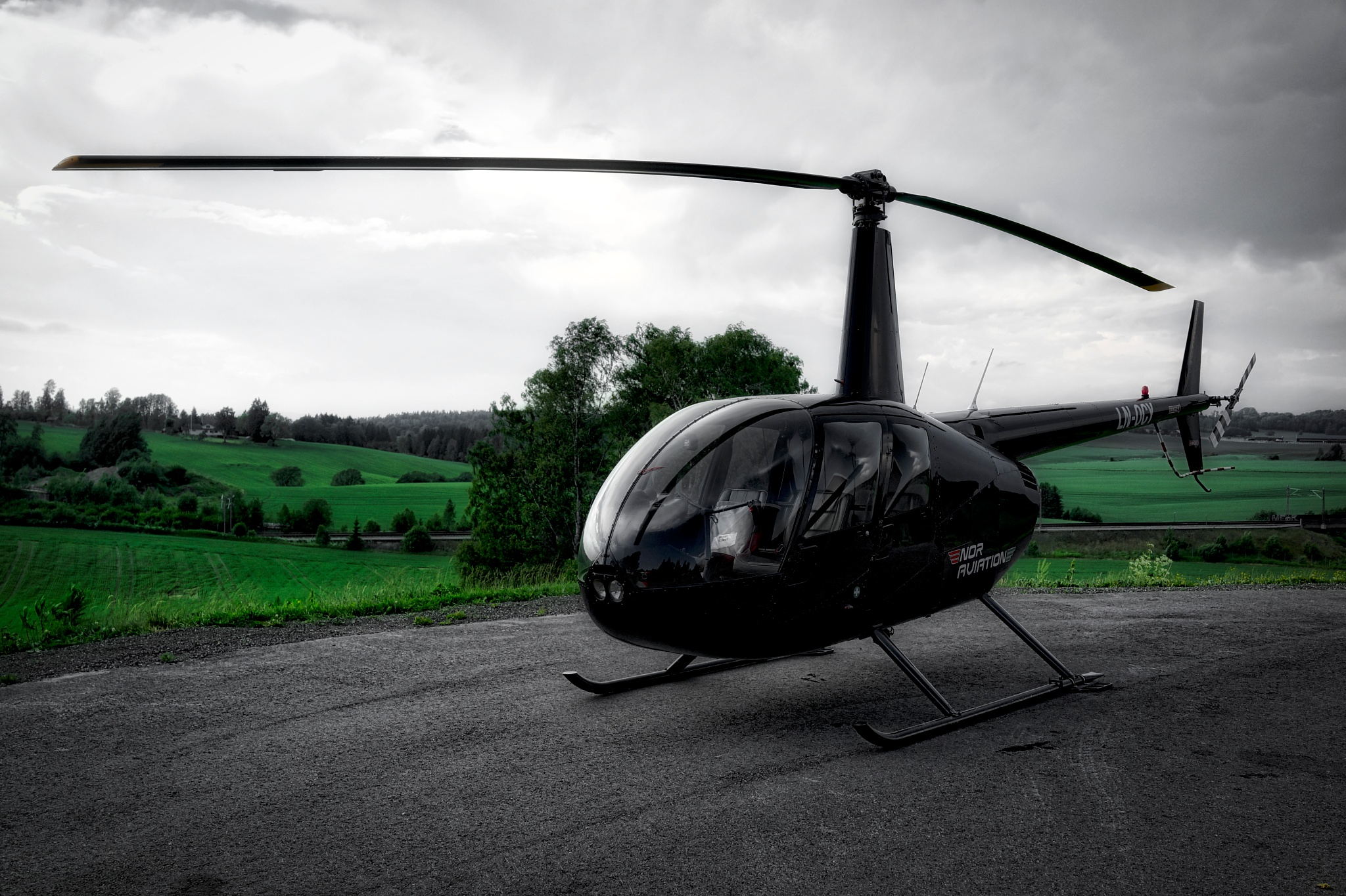 Photo in Vehicle #helicopter #flying machines #norway