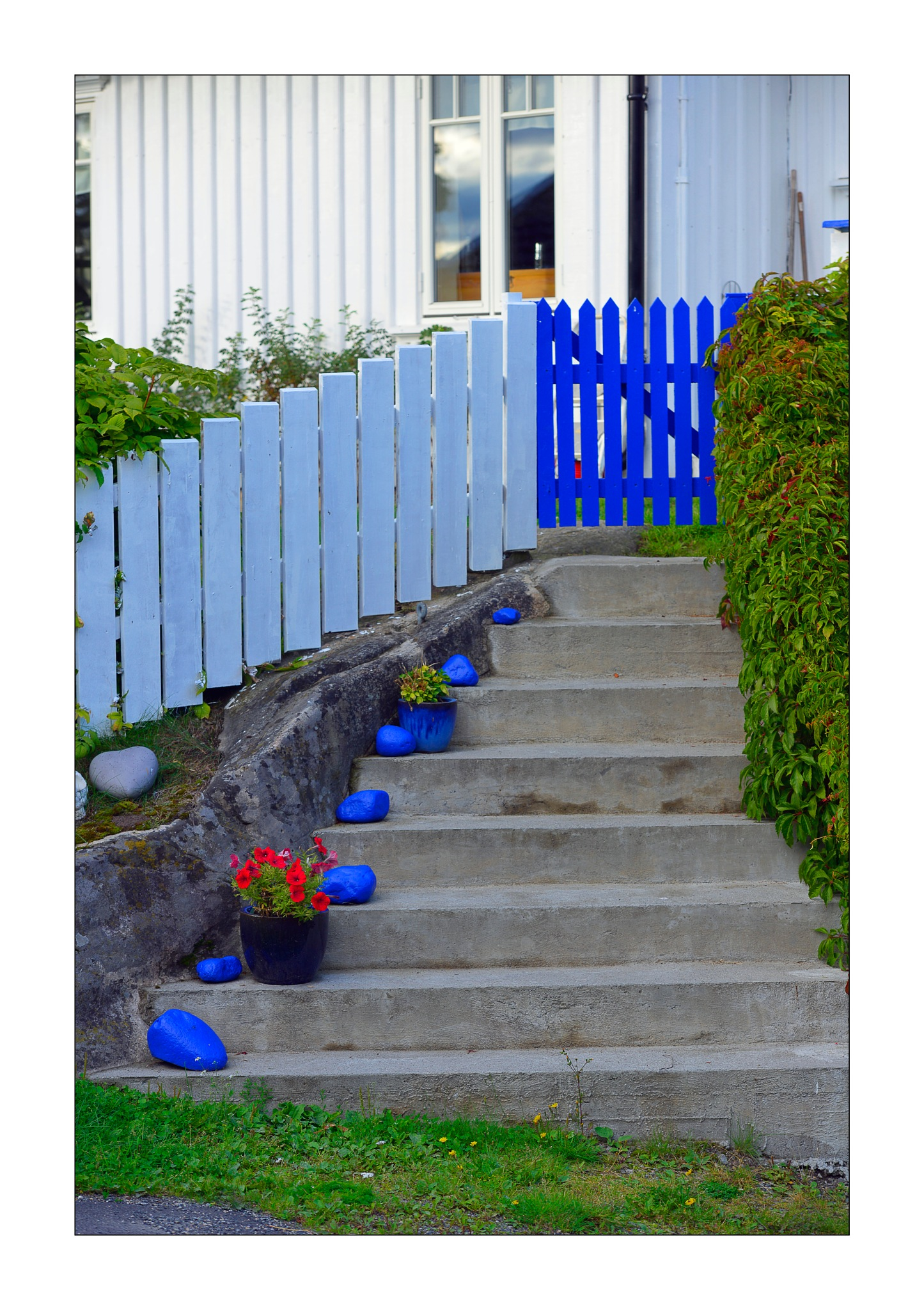 Stairs with Blue Stones by Goran Jorganovich