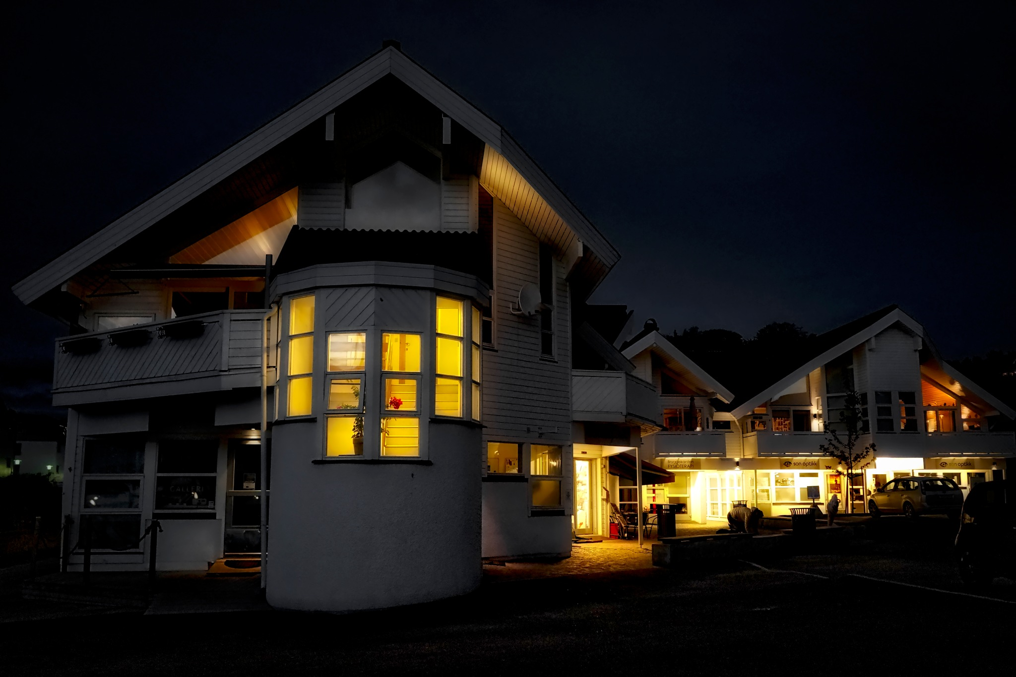 Saturday´s Evening in Norwegian village by Goran Jorganovich