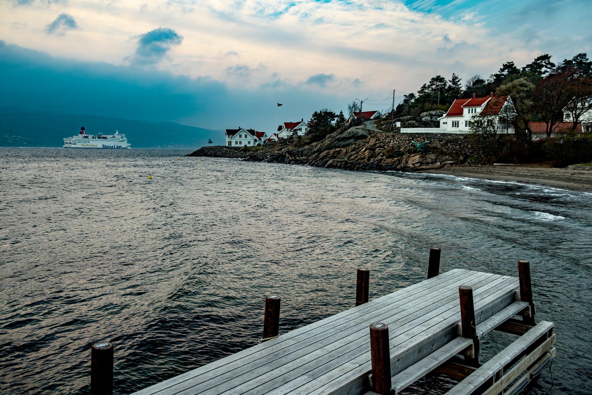 Oslo fjord & Indian Summer by Goran Jorganovich