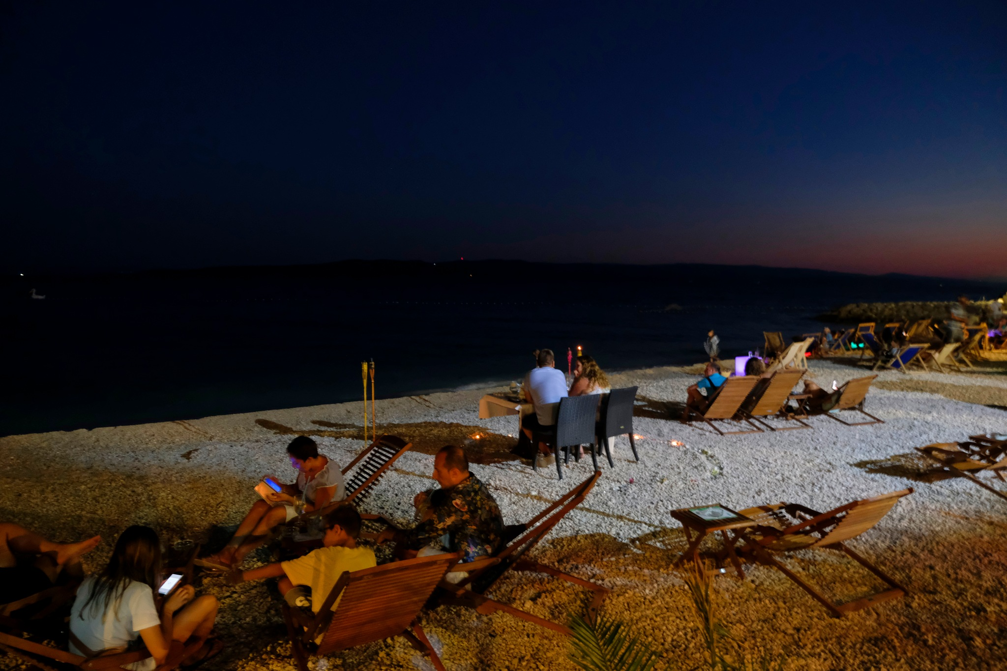 Night on The Beach by Goran Jorganovich