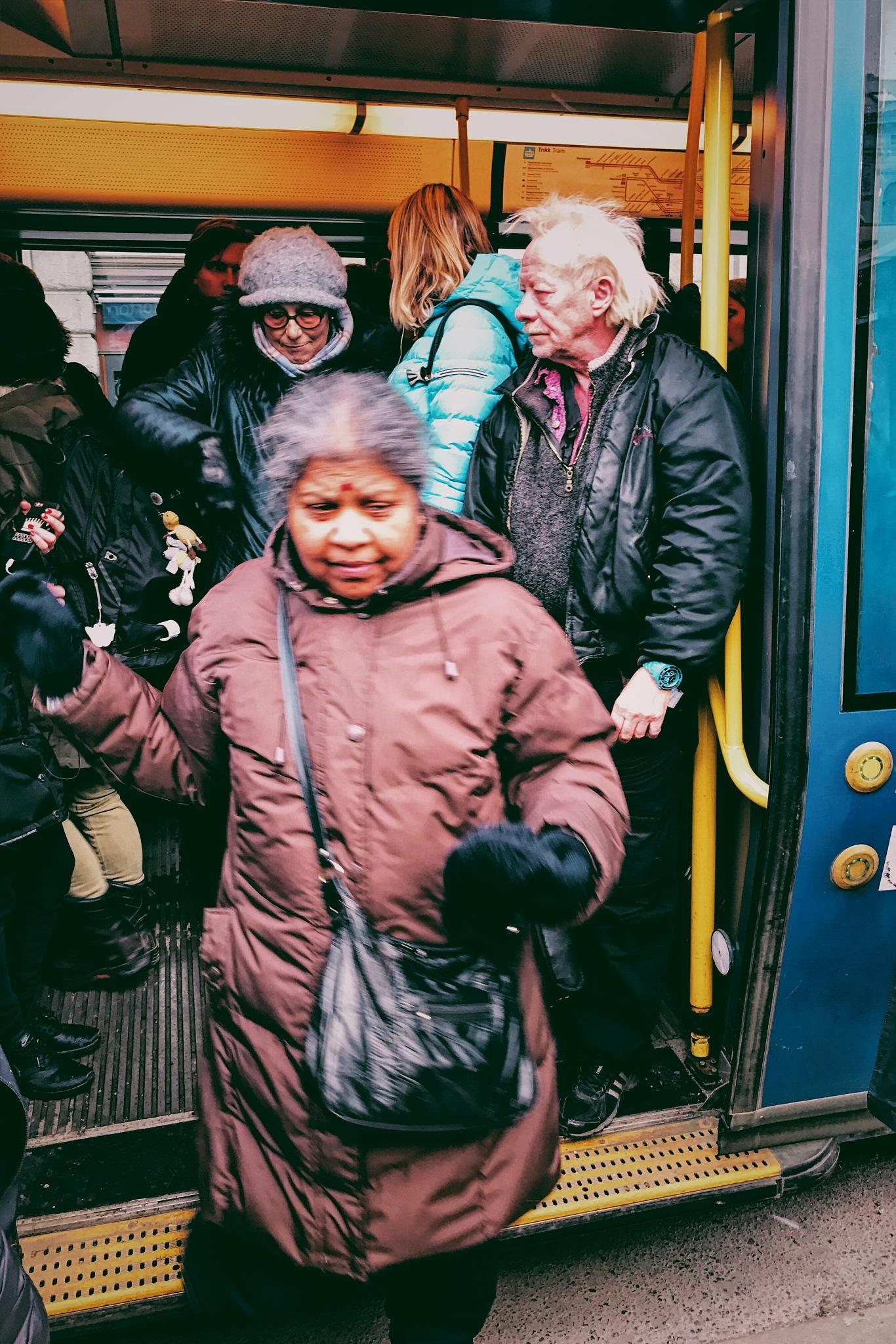 Happy commuter by Goran Jorganovich