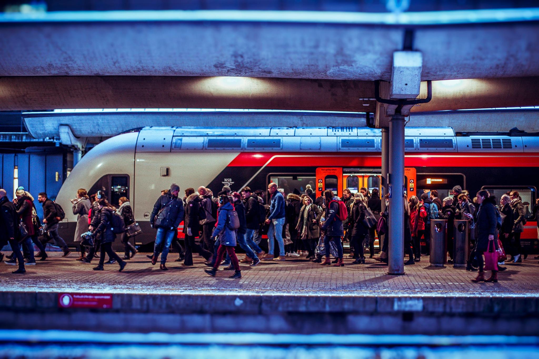 Winter Commuters by Goran Jorganovich