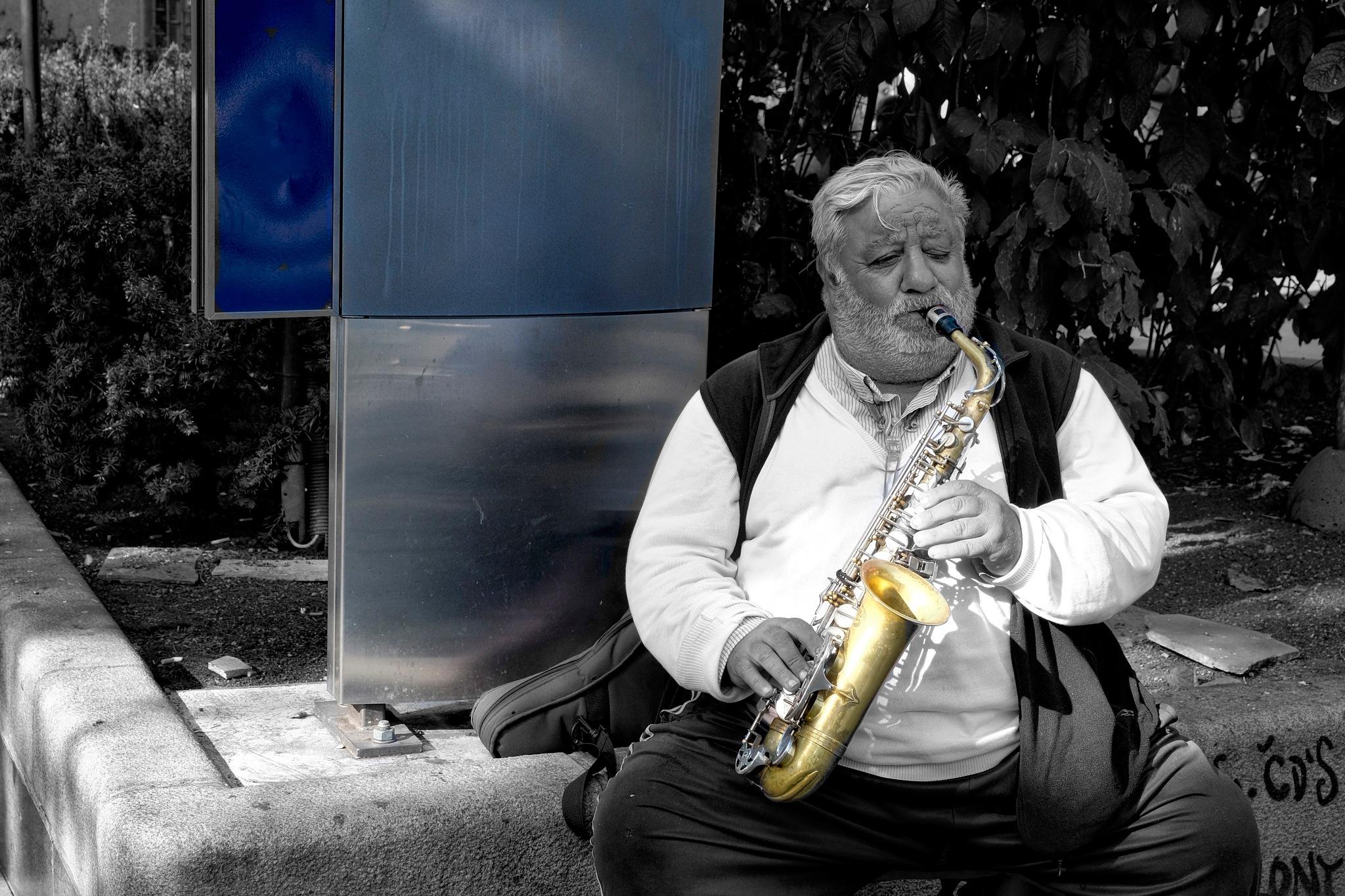 The Man with Golden Sax by Goran Jorganovich