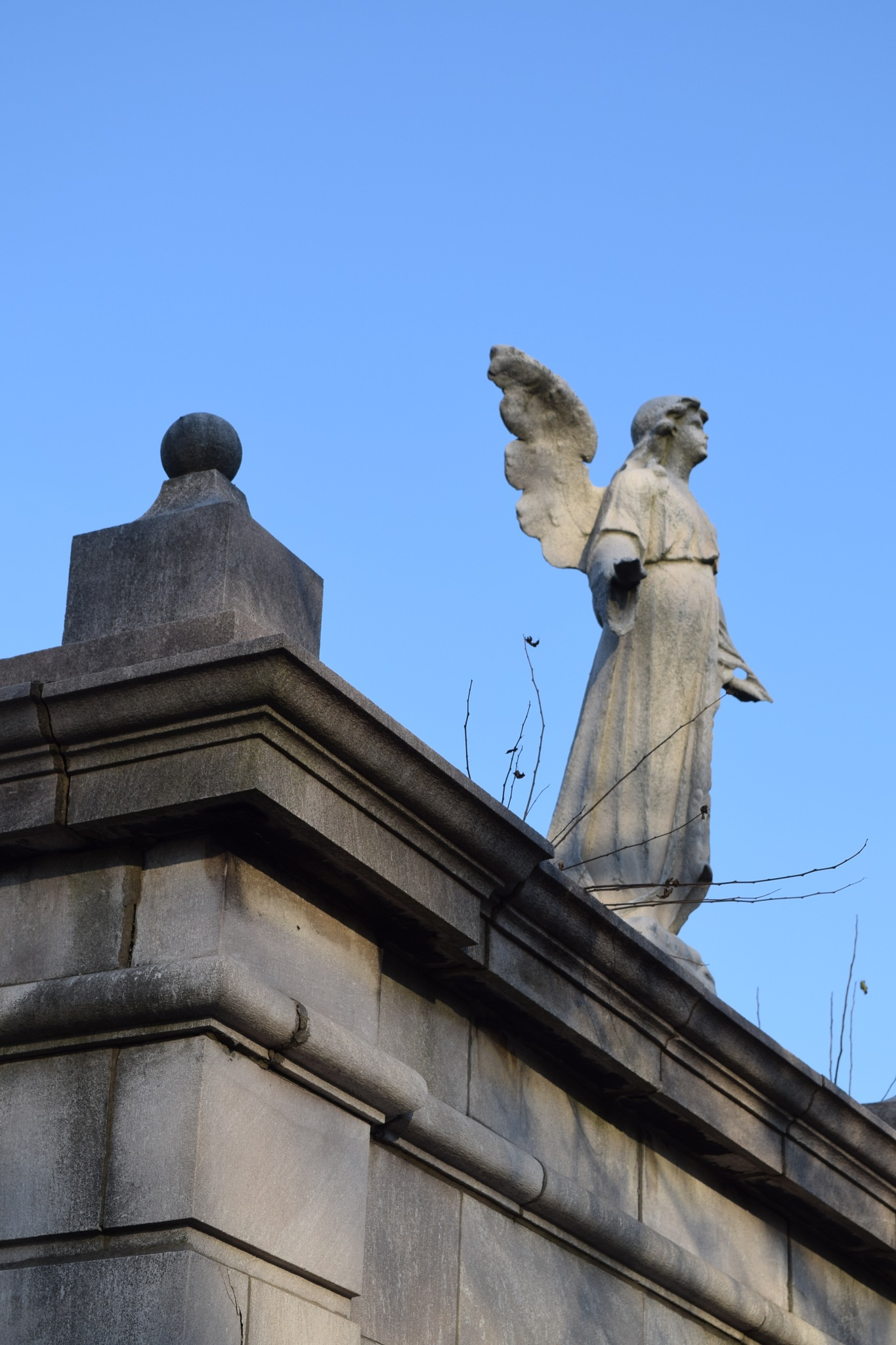 An Angel Looks Over the Grave of My Mother by RichardJTreitner