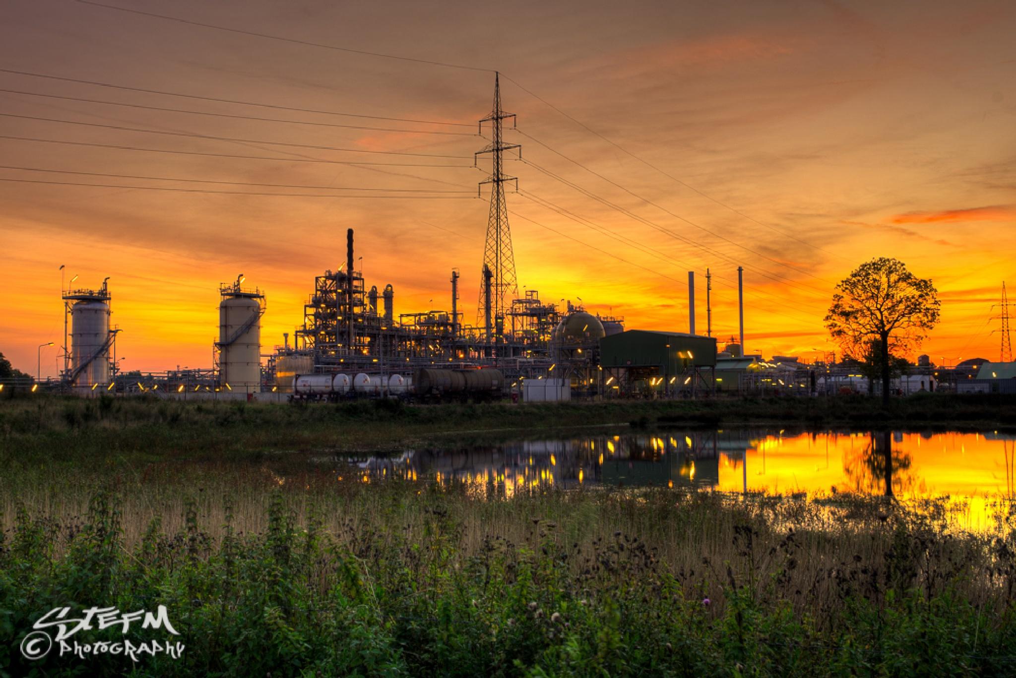 Industrial Sunset by Stefan Meekers