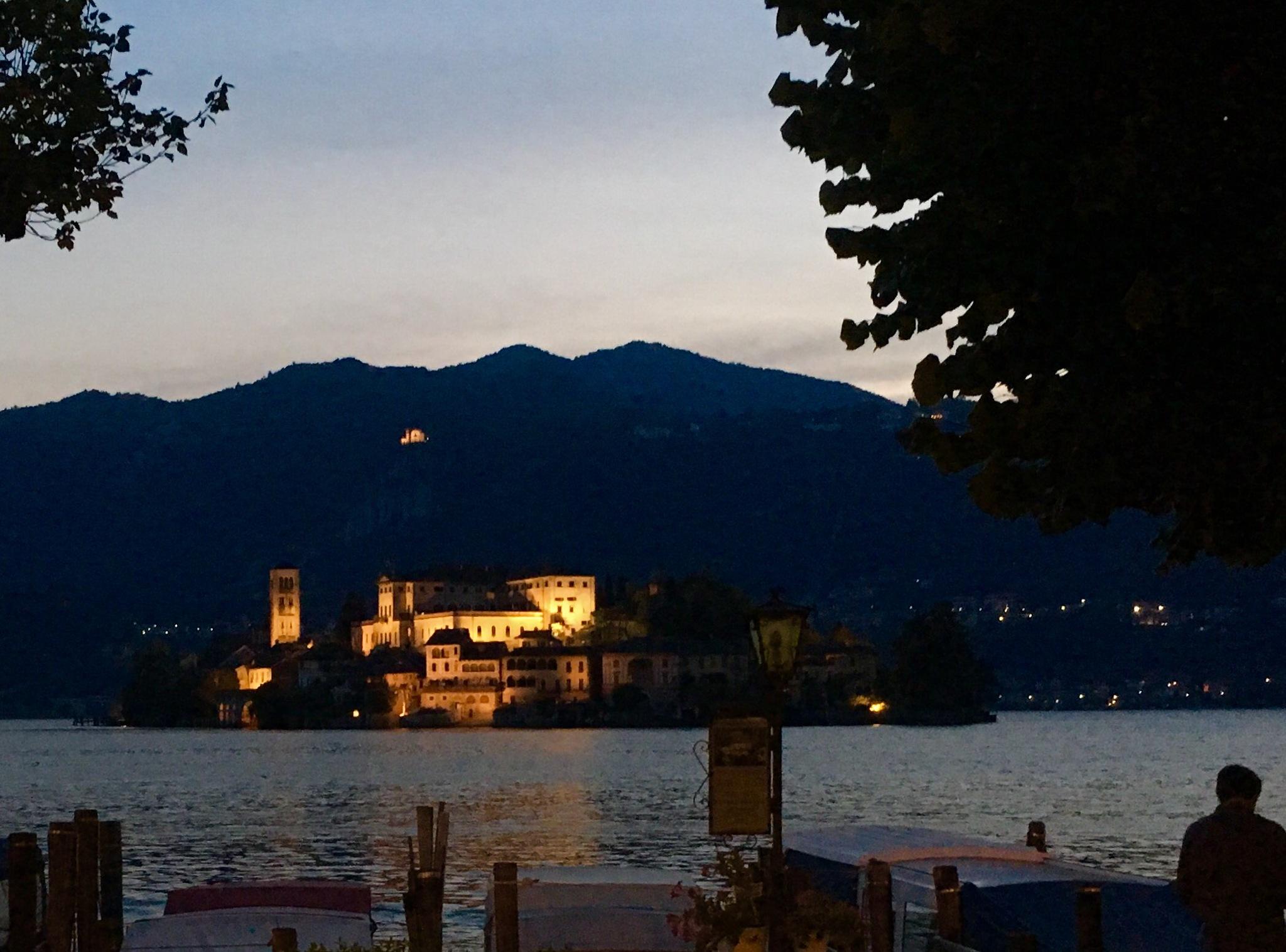 Island on lake Orta in Italy by swisstraveller