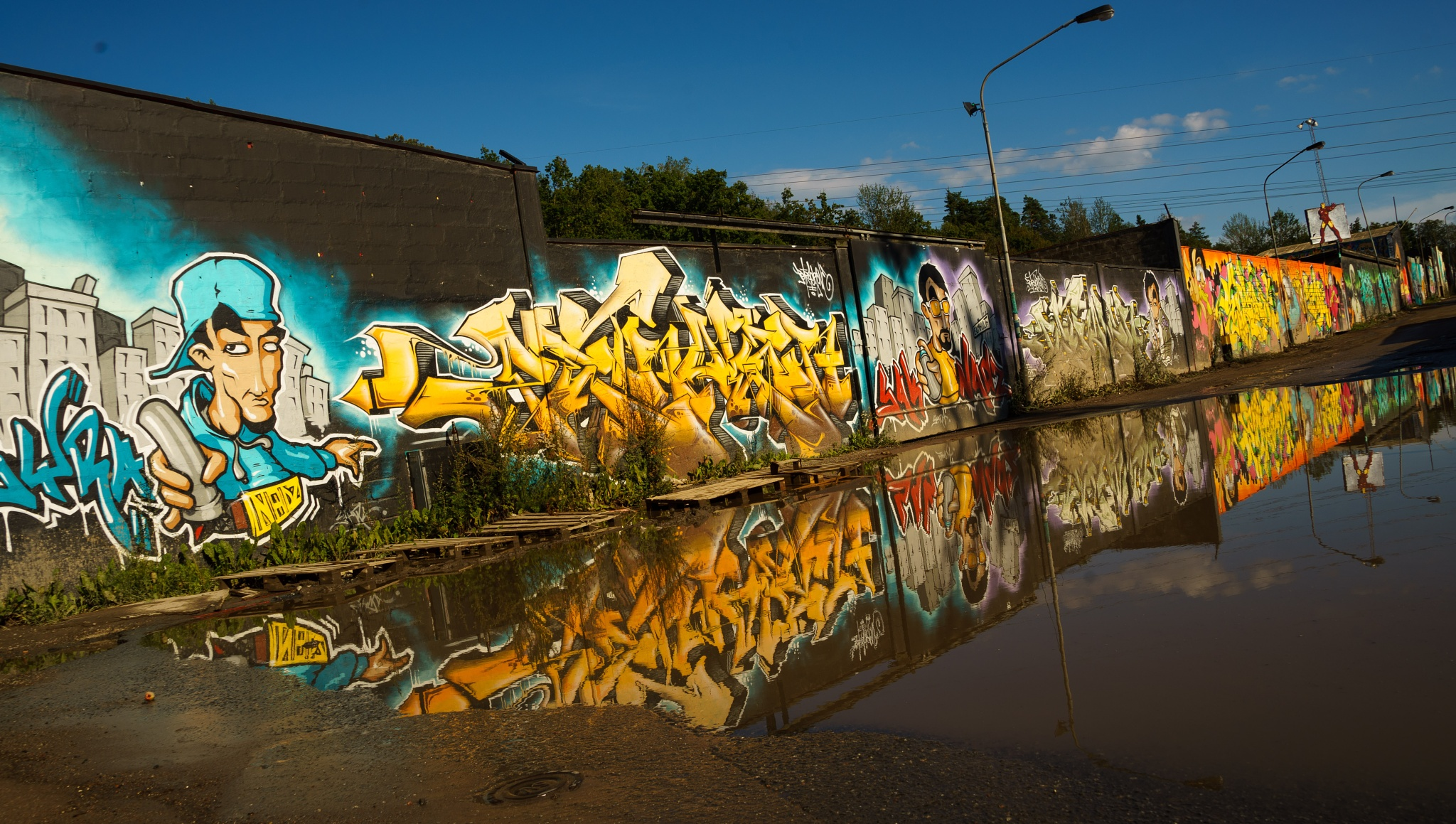 The painted street by MM