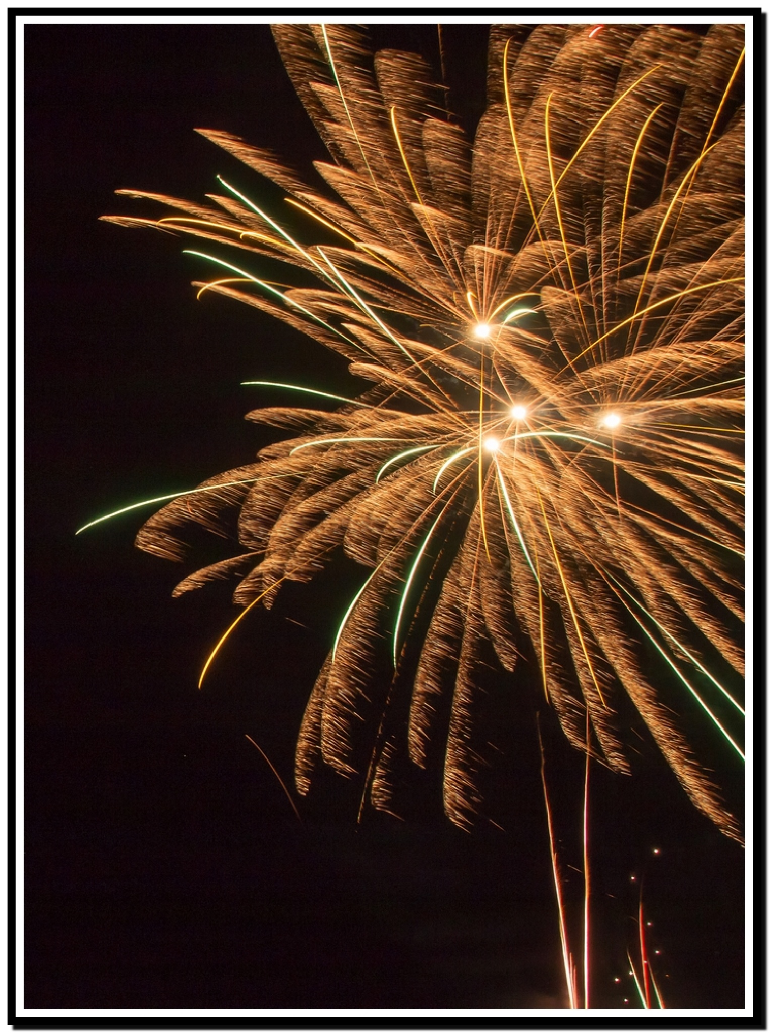 Fireworks on the beach by ABRossouw
