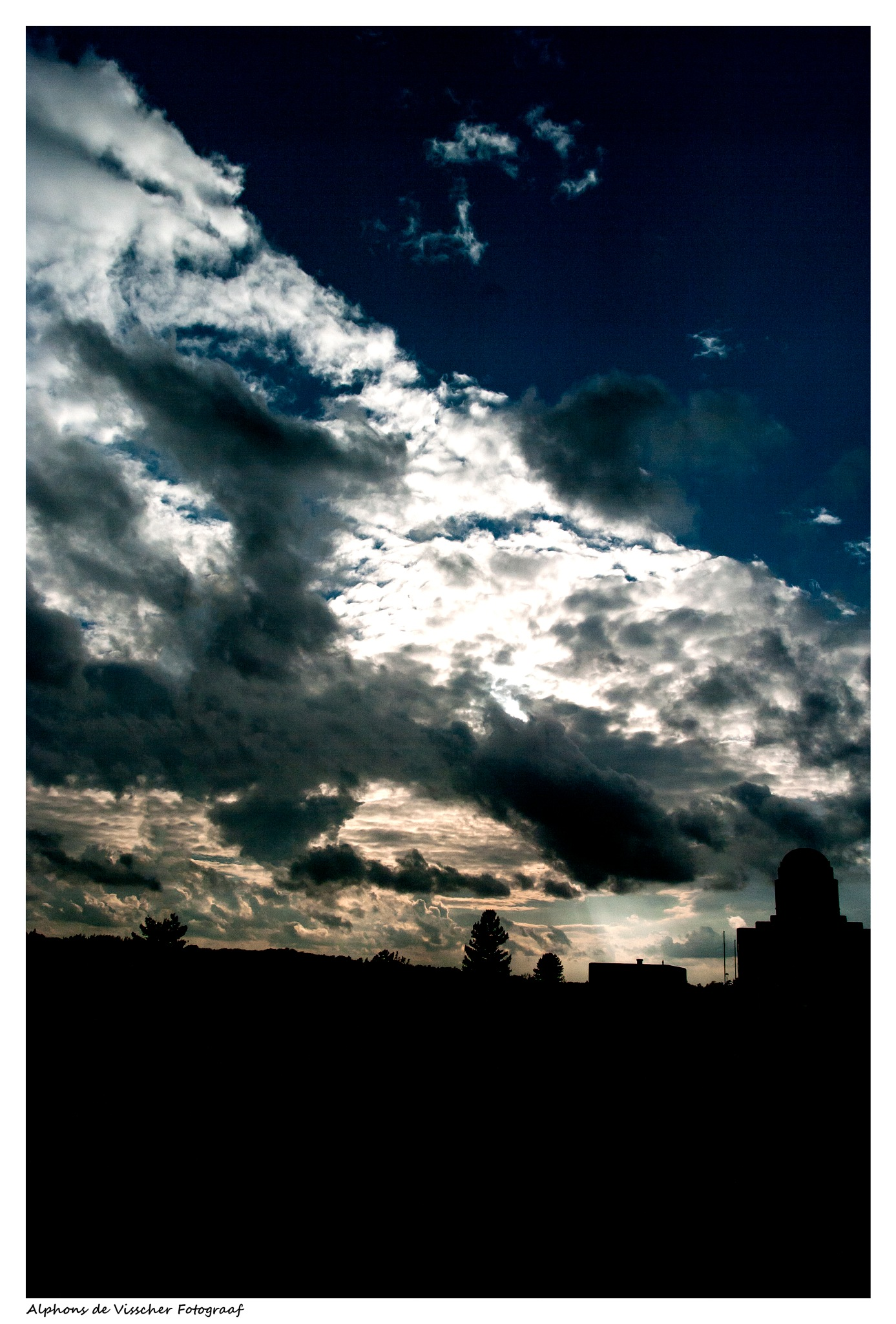 Sunset at Radio Kootwijk by Alphons de Visscher Fotograaf