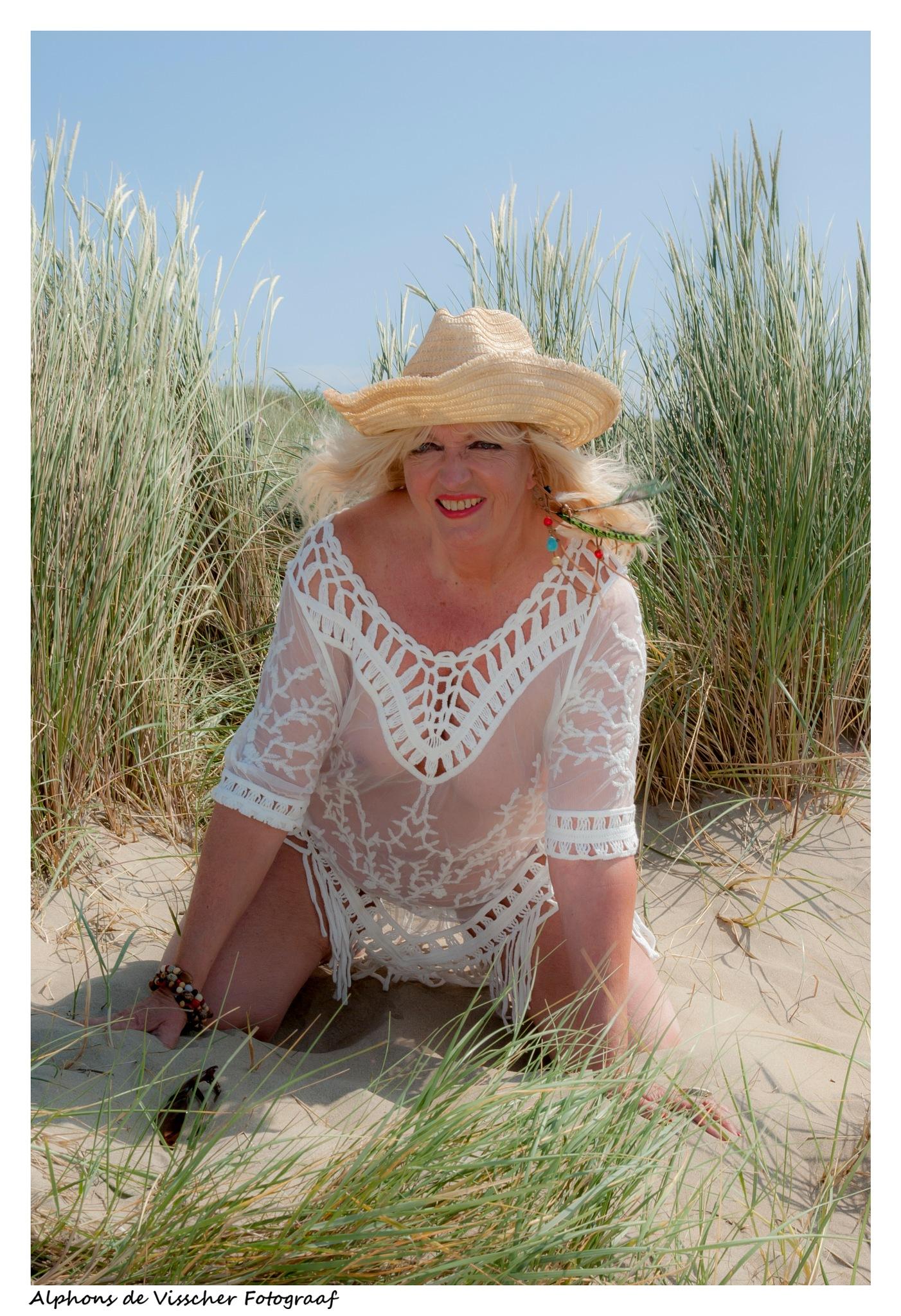 Blond in the dunes by Alphons de Visscher Fotograaf