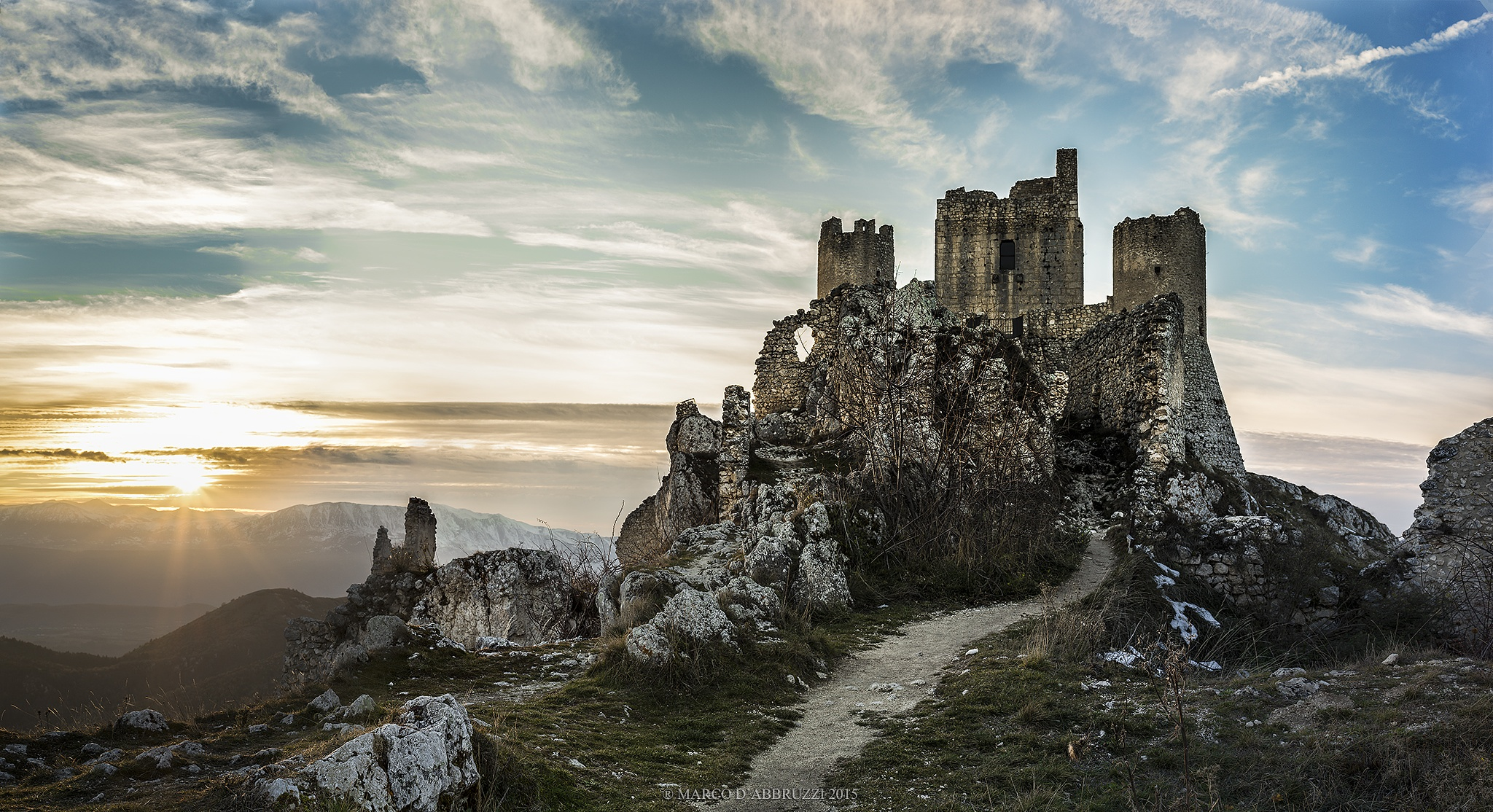 Sunset at Rocca Calascio by Marco D'abbruzzi