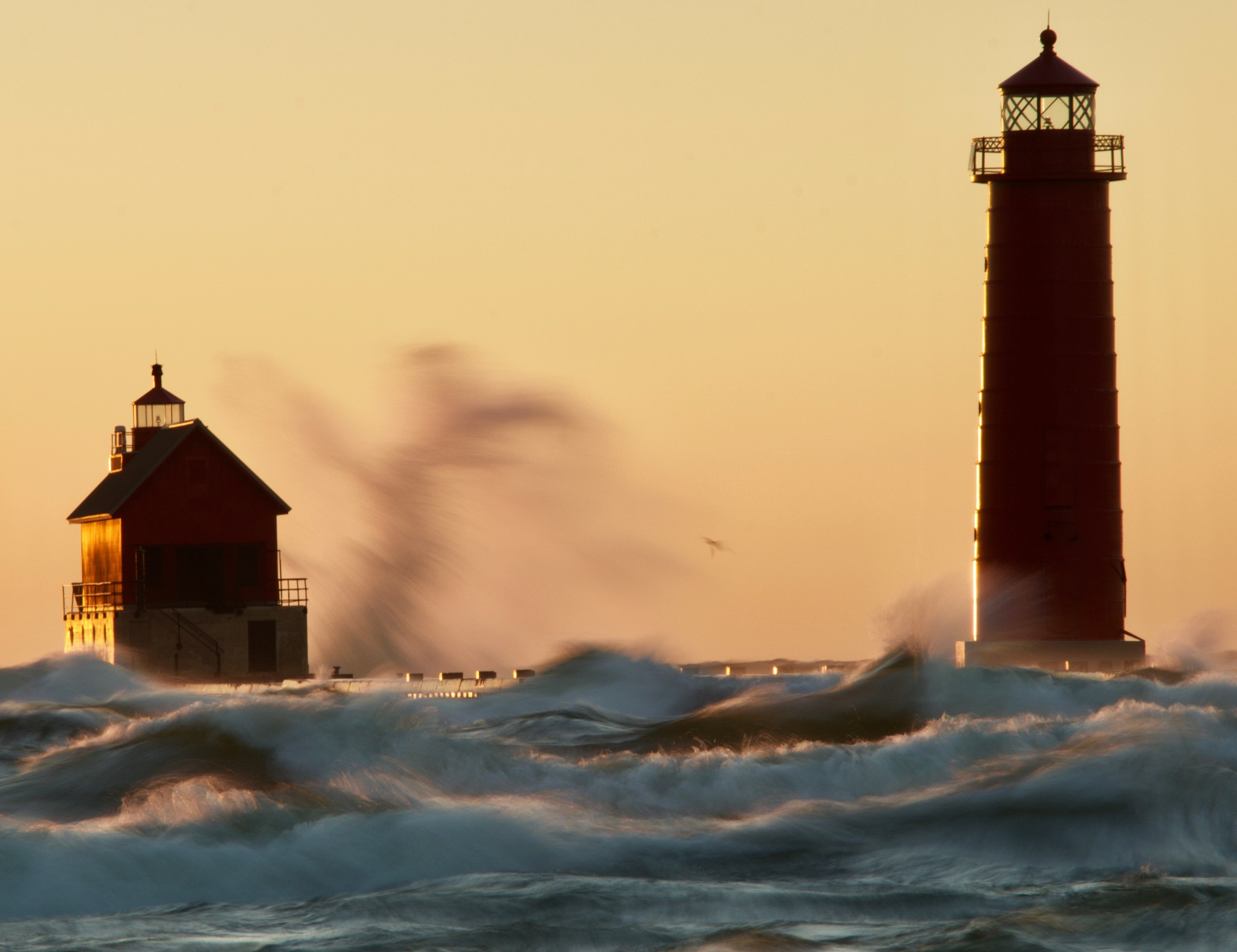 Grand Haven Lighthouse #2 by John  Lepisto