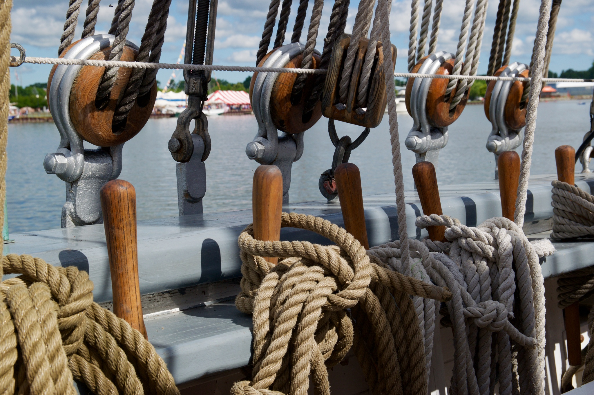 Standing & running rigging on a sailing ship by John  Lepisto