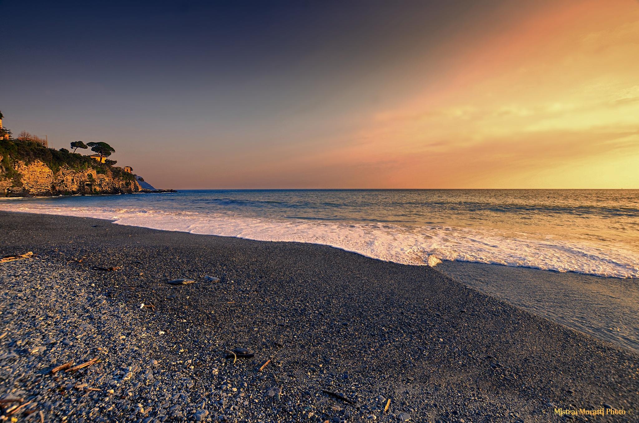 the  calm evening sea by Mistral Moratti