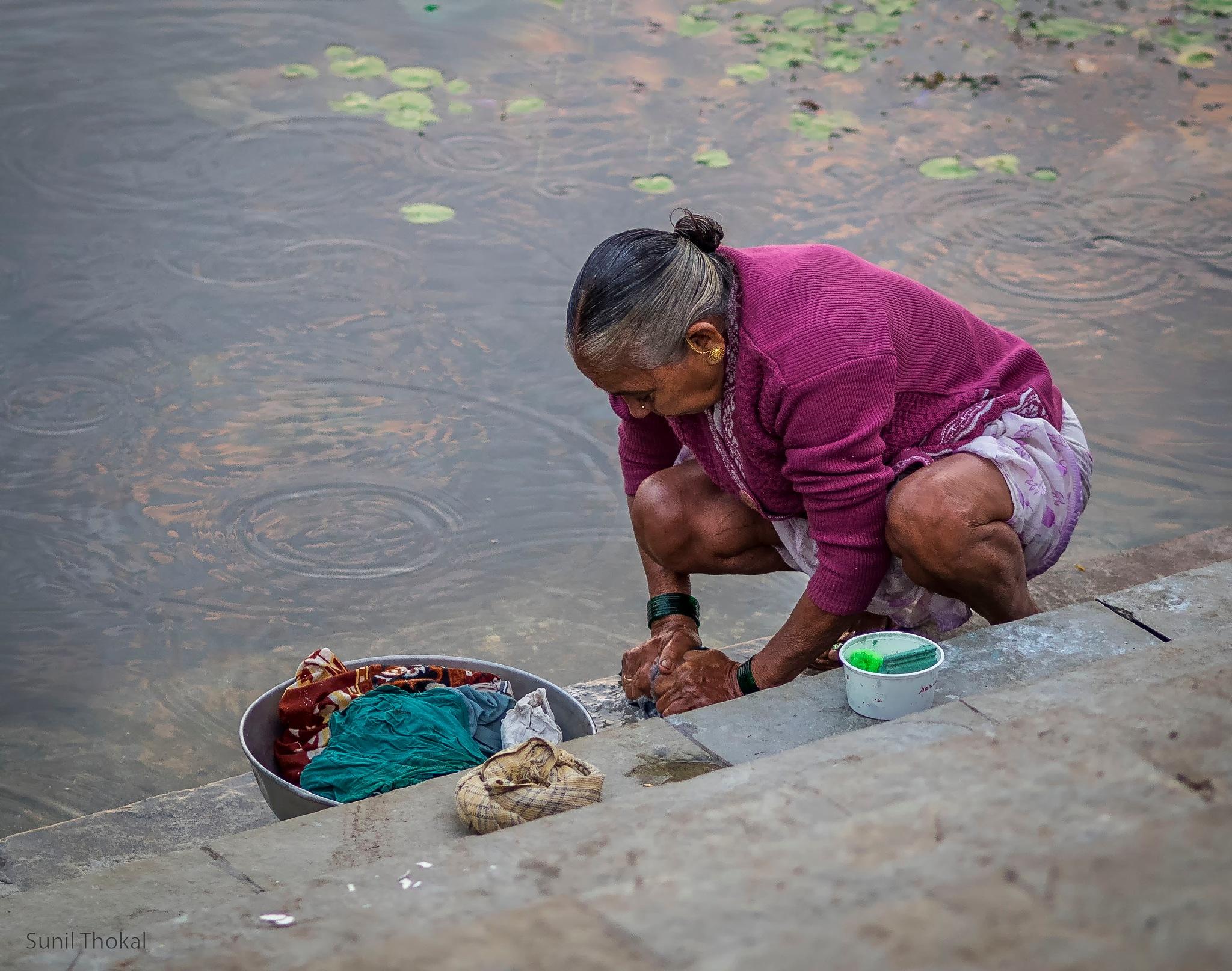 Washing by Sunil Prabhakar Thokal
