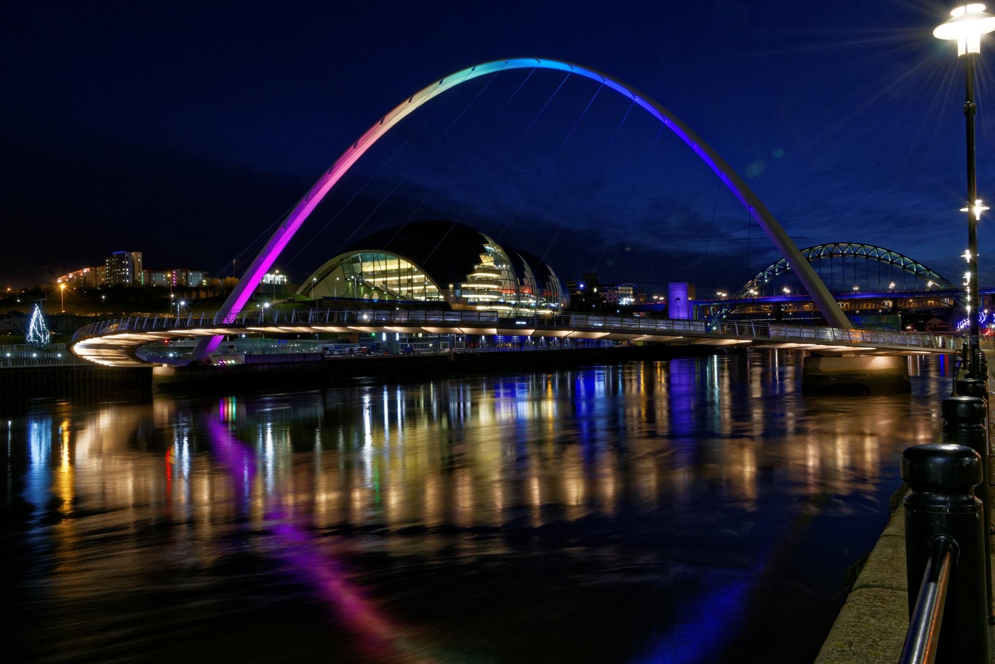 Millennium Bridge Lit Up by Paul Collins