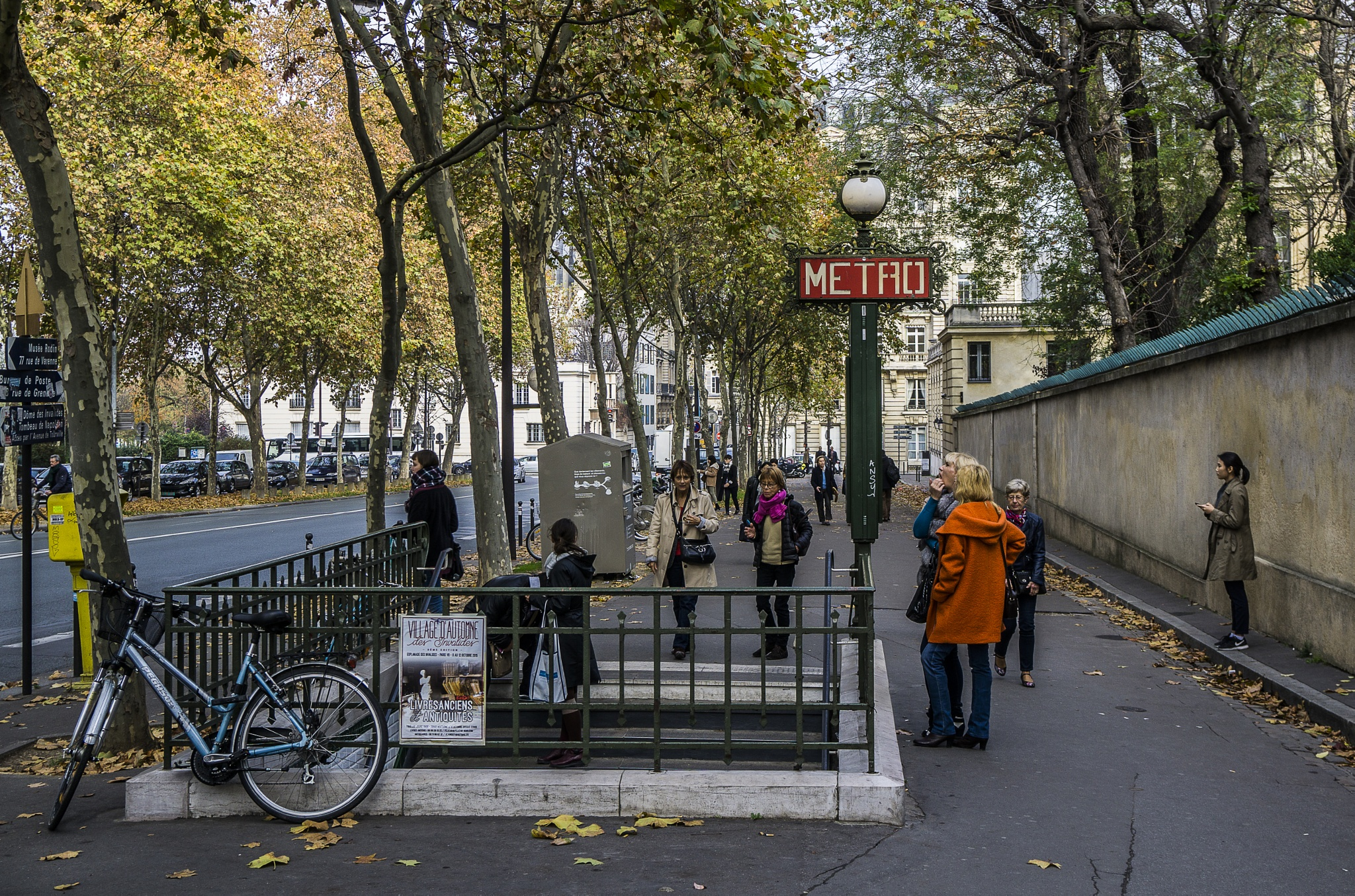 Metro Station entrance, Paris by Chris Lane