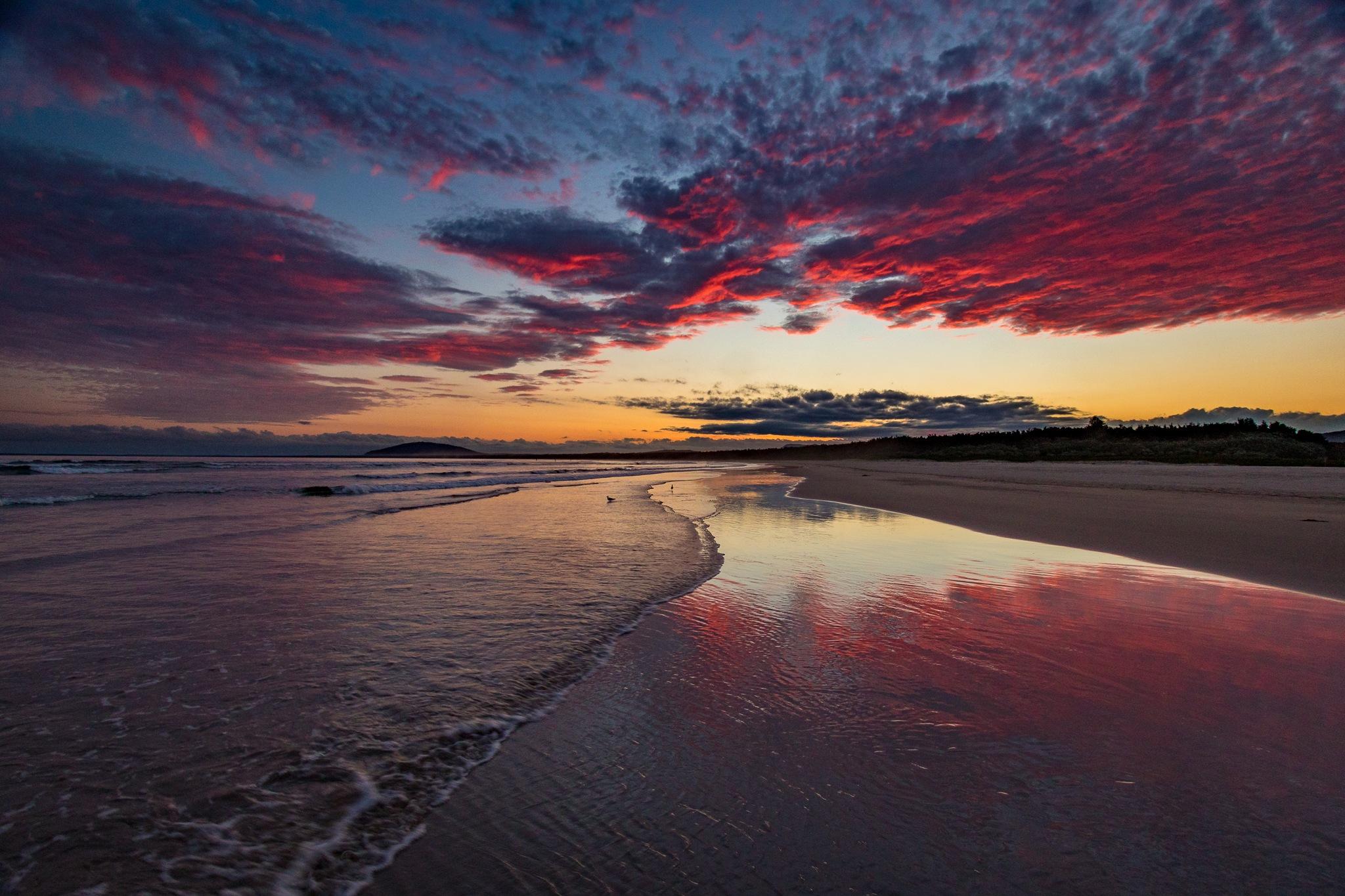 Photo in Landscape #australia #nsw #clouds #gerroa #ocean #seven mile beach #sunset