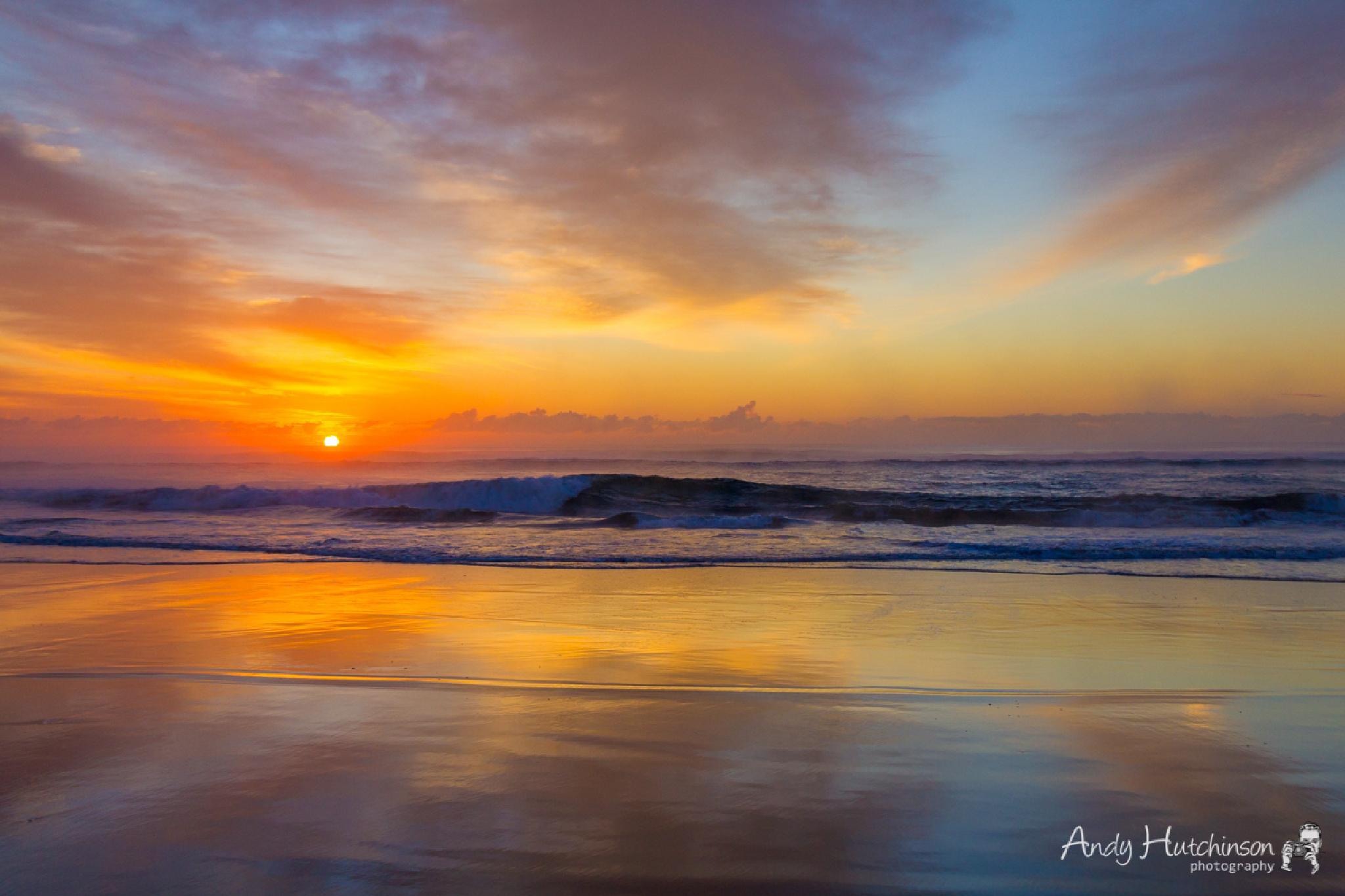 Misty Sea Dawn by Andy Hutchinson