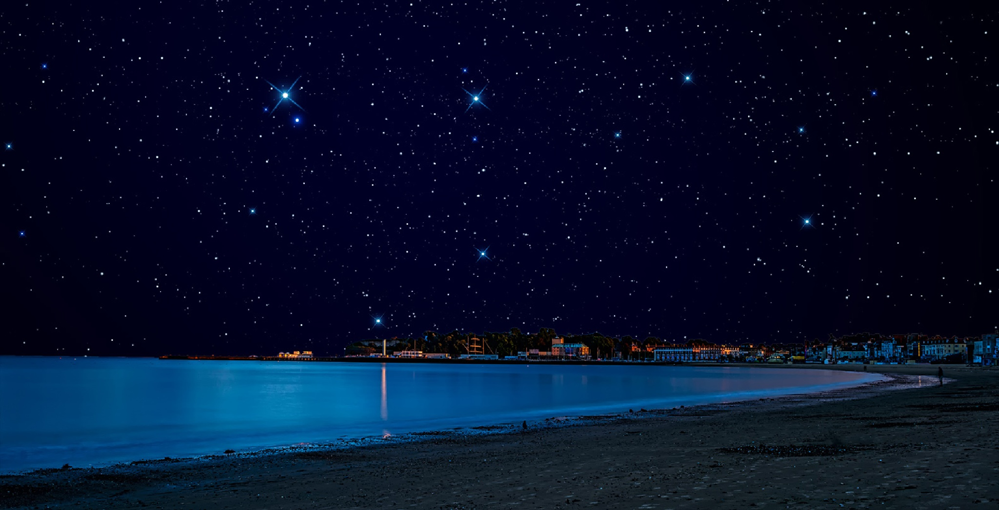 Stars and Sea by SakthiThasan