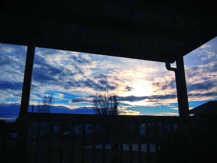 Oregon setting Sun by Cj French