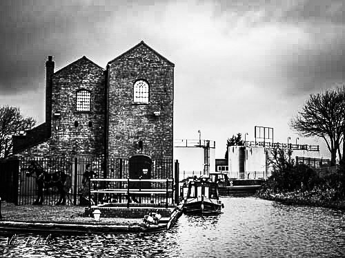 Canal pump house by Alan Turley