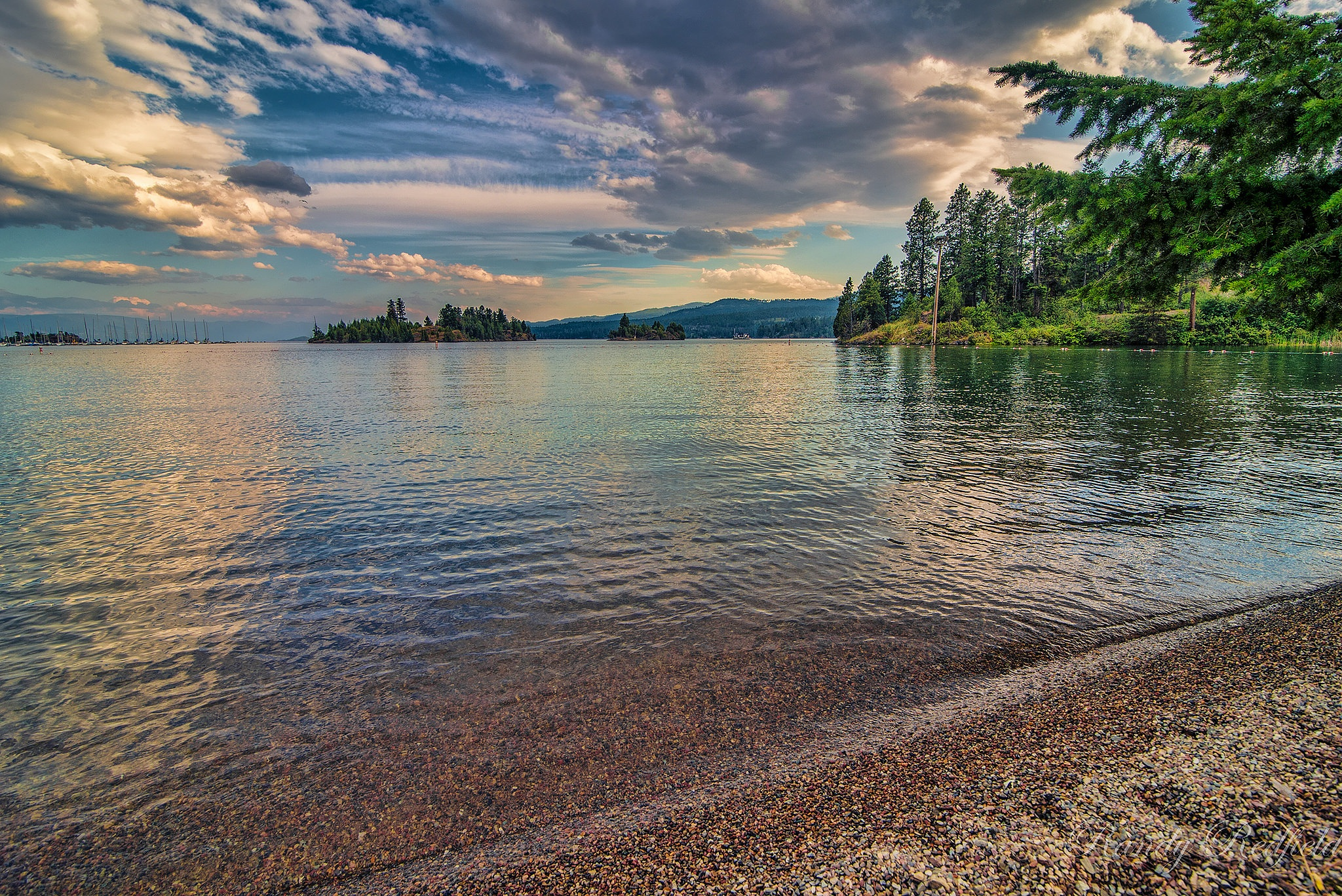 Flathead lake, Montana by Randy Redfield