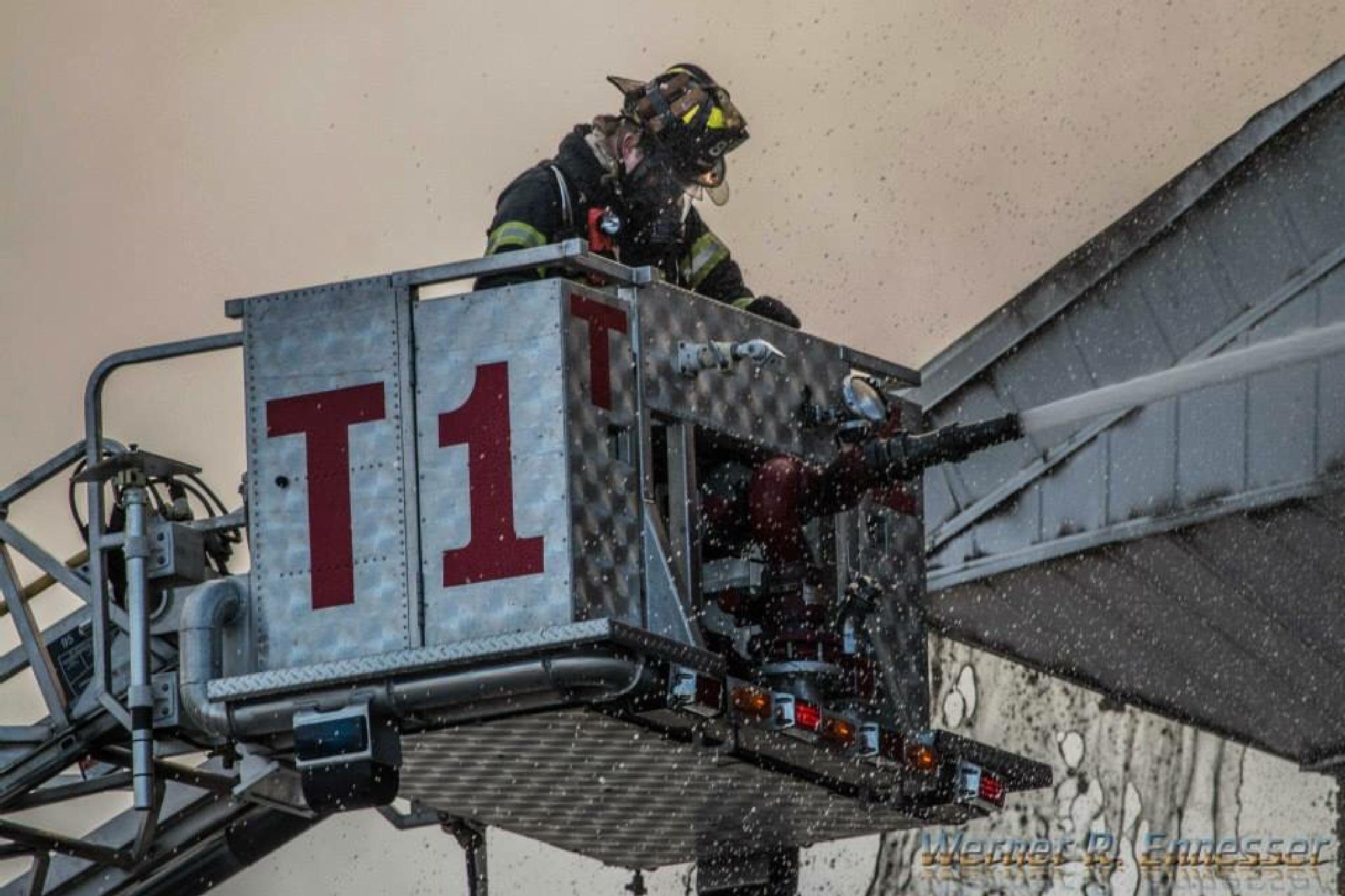Hackensack, NJ 3 alarm fire by Werner R. Ennesser