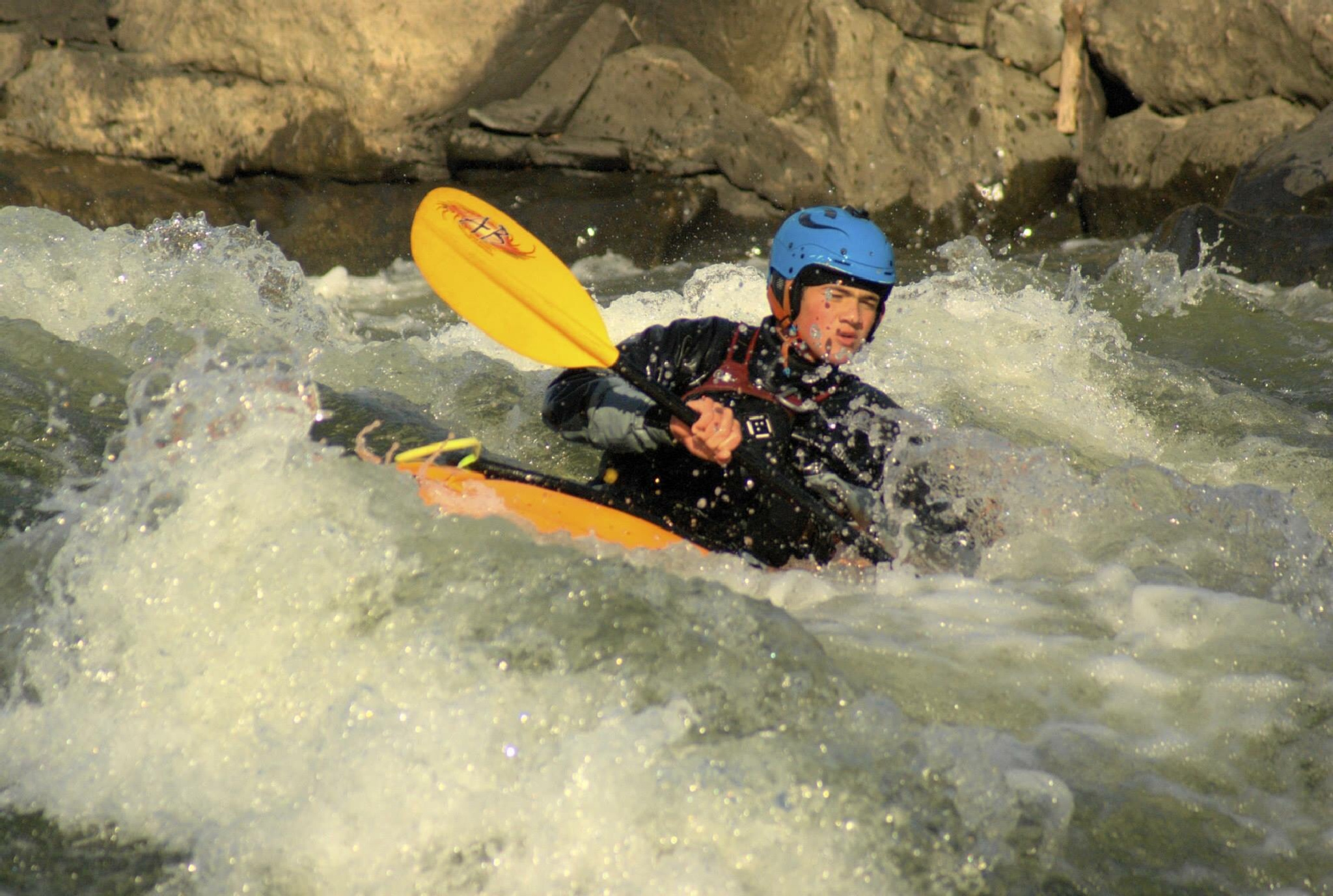 Kayaker at Great Falls by Werner R. Ennesser