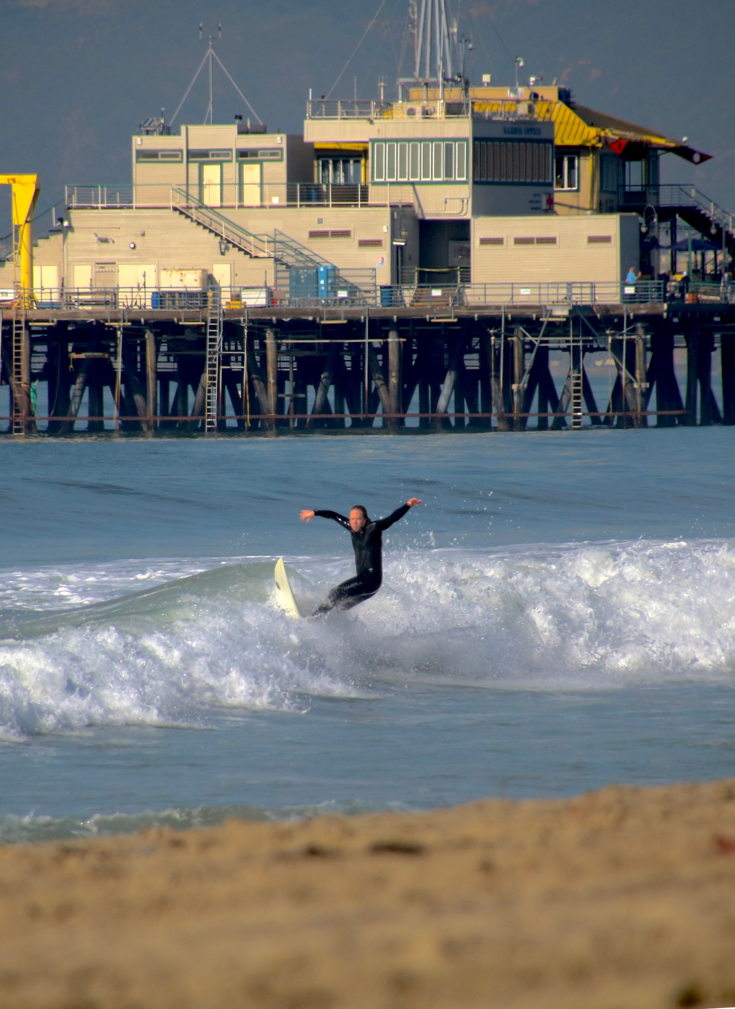 Surfin Santa Monica Beach by RoarPhoto