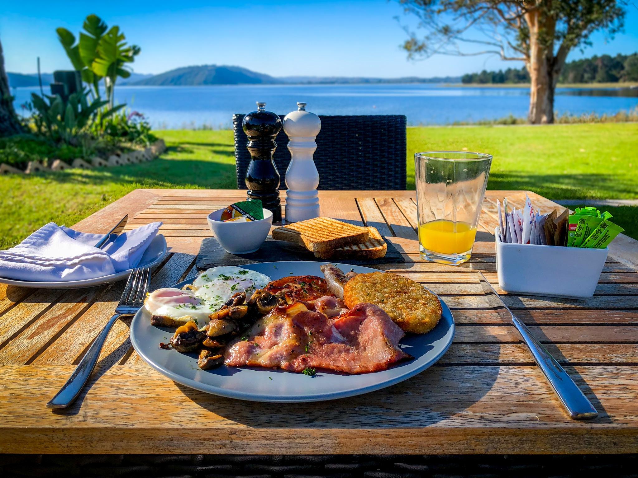 Breakfast view by RoarPhoto