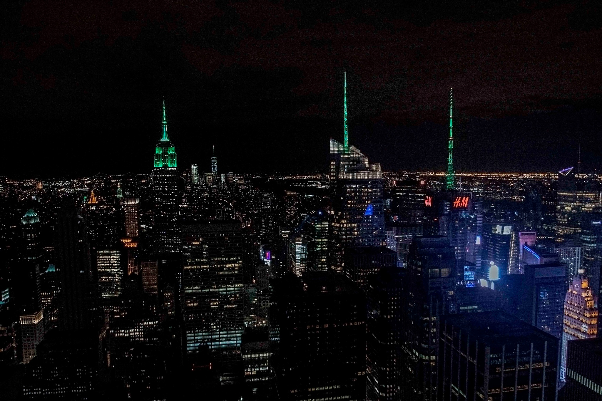 A classic night view of Manhattan NY by Jorge Nogales
