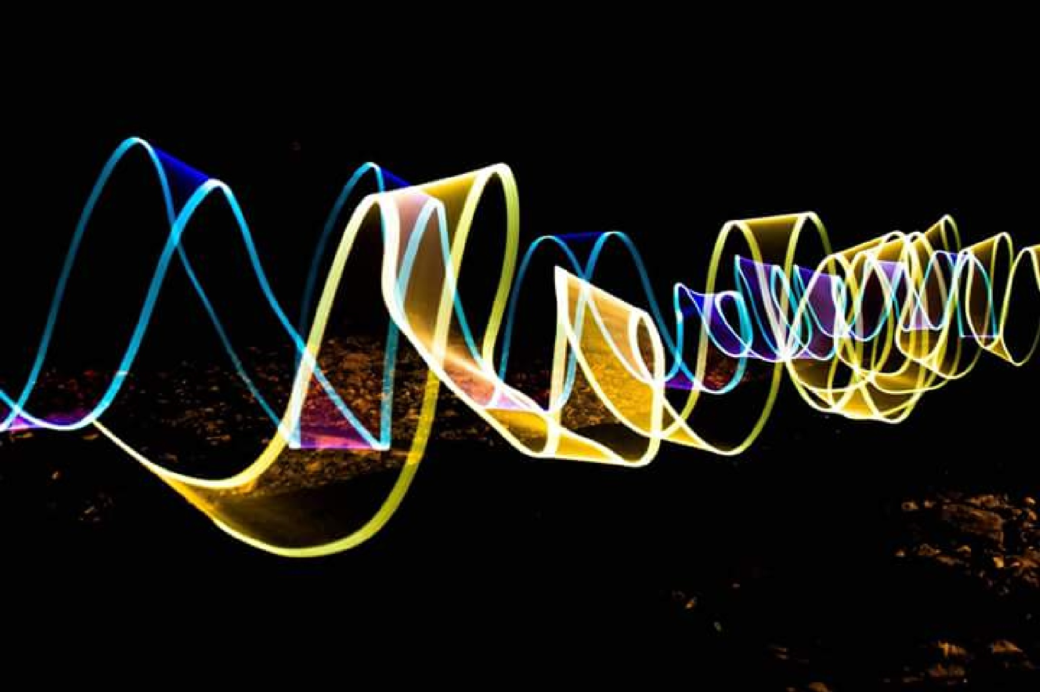 ribbons in the night  by chopperwatts4