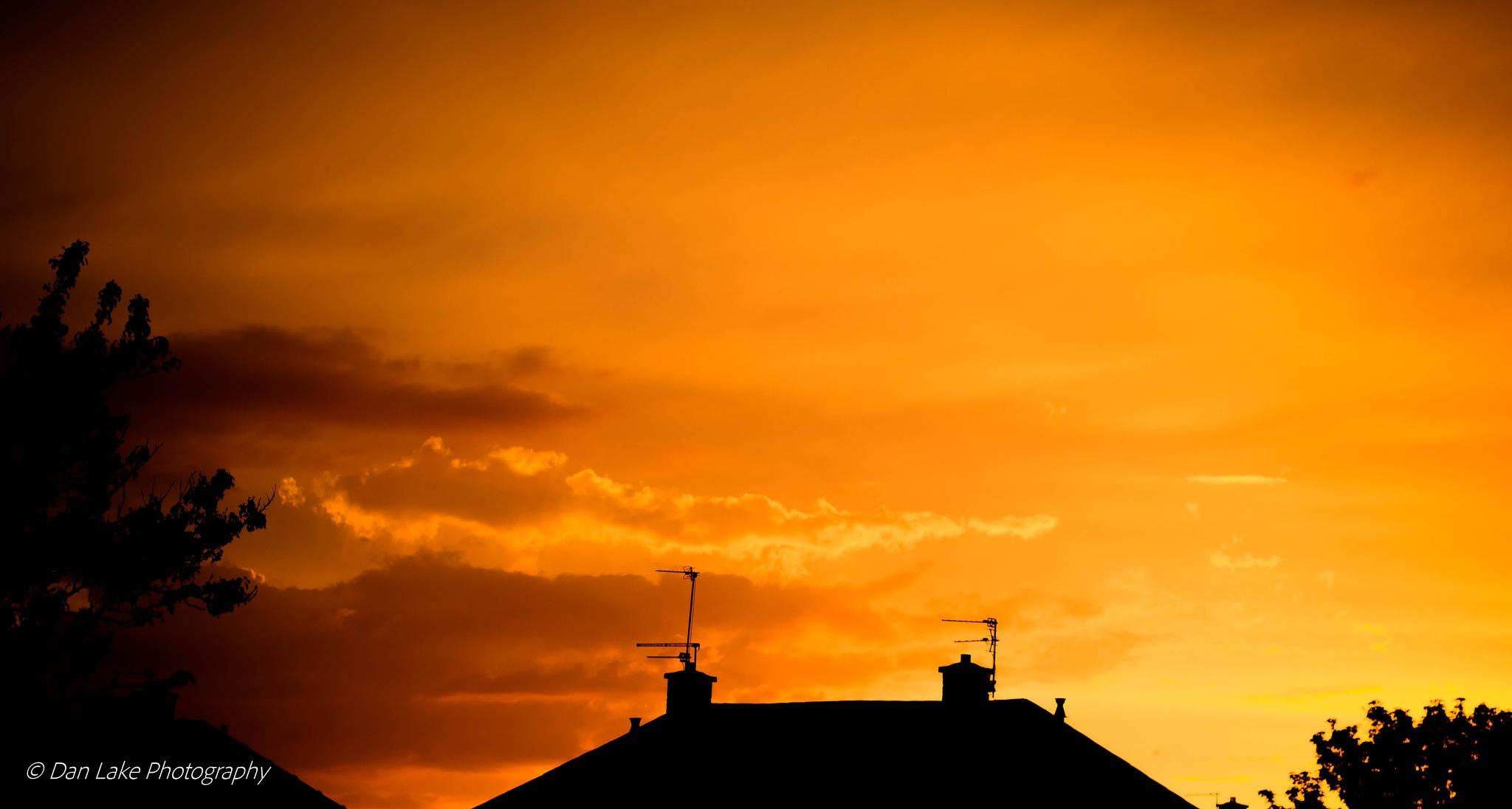 Burning Sunset by Dan Lake