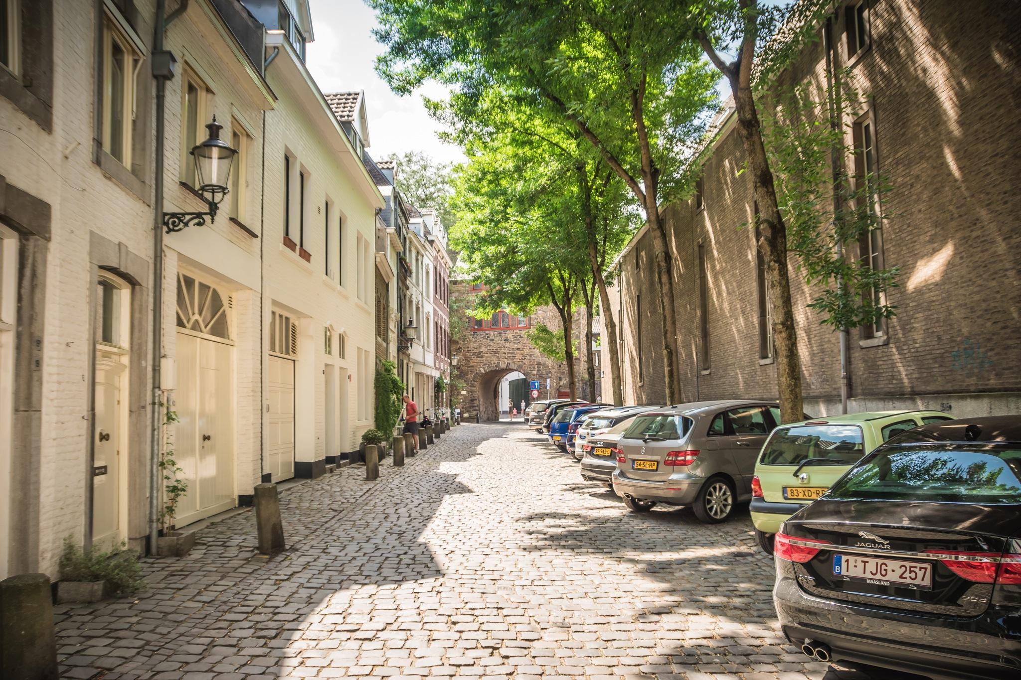 Street in Maastricht by Hans Lunenborg