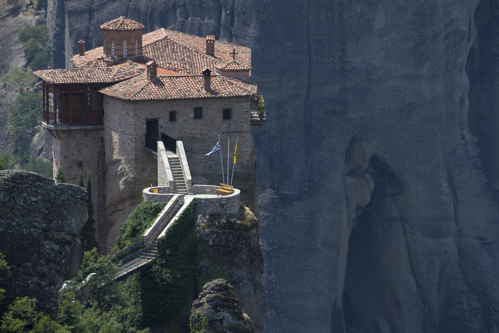 Meteora - The Rousanou (or Roussanou) Monastery by Storvandre Photography