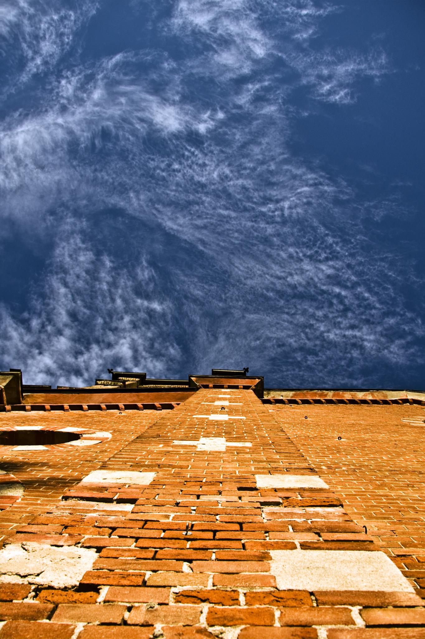 Photo in Architecture #sky #bricks #wall #church