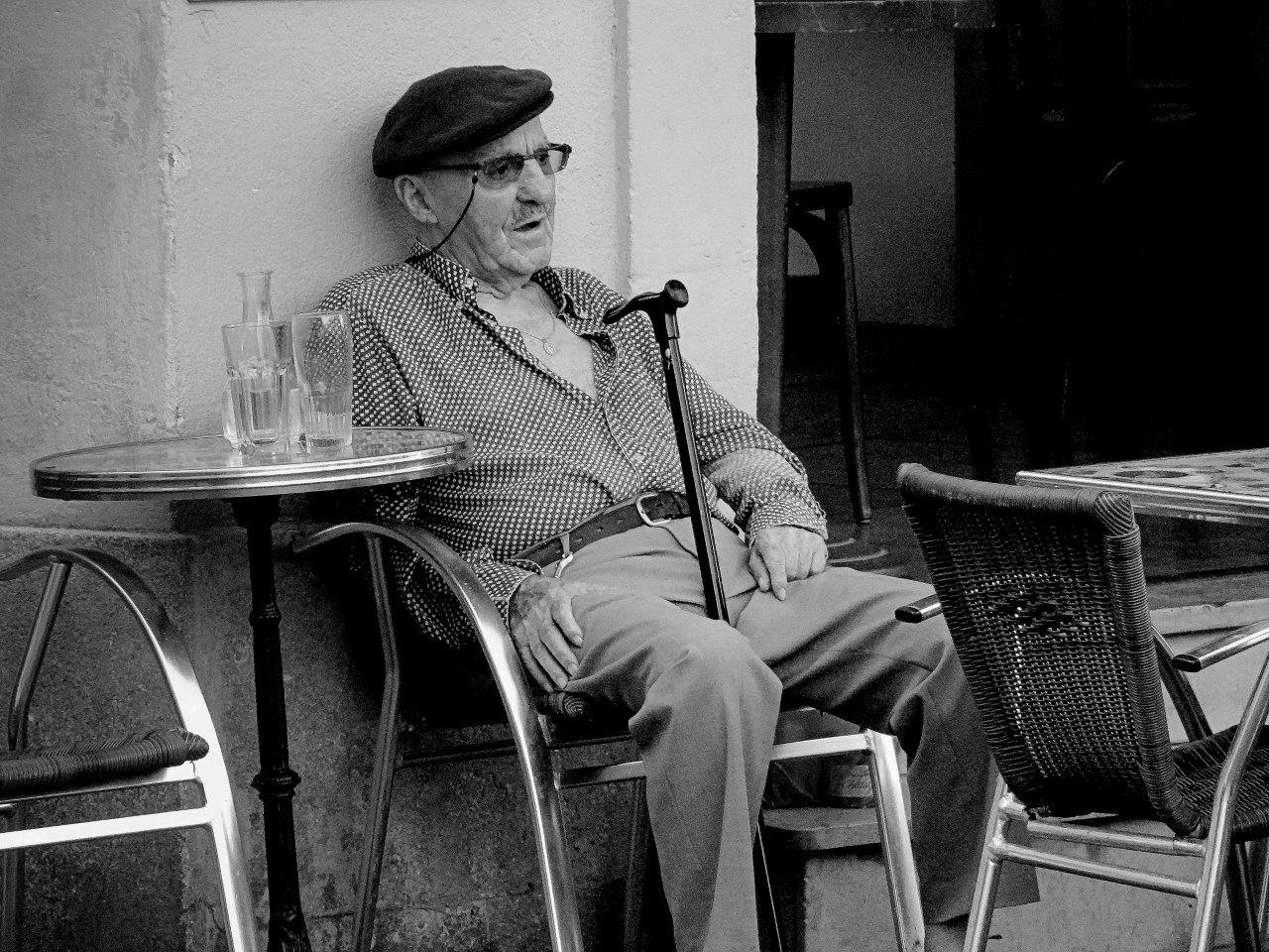 A seated man by Matteo Venturini