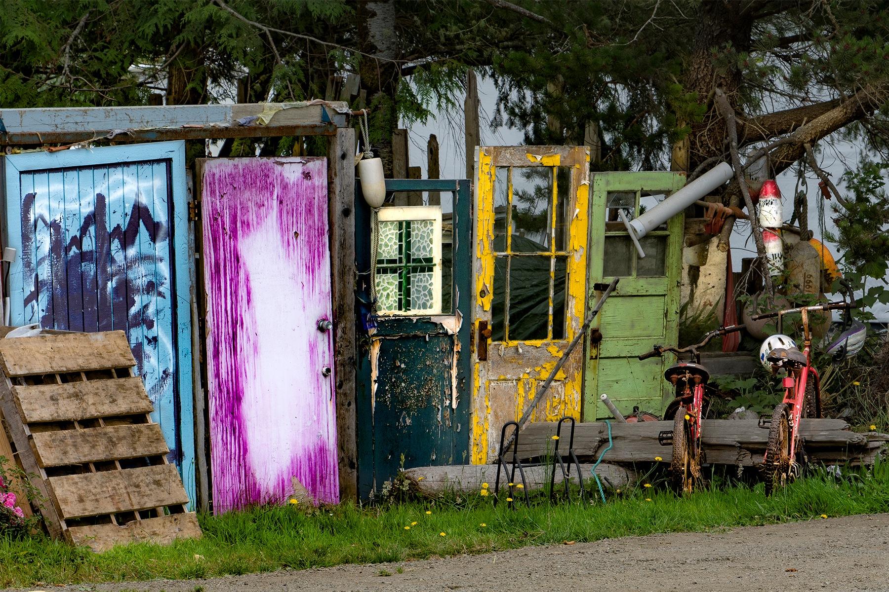 Painted Doors & Bicycles by markj