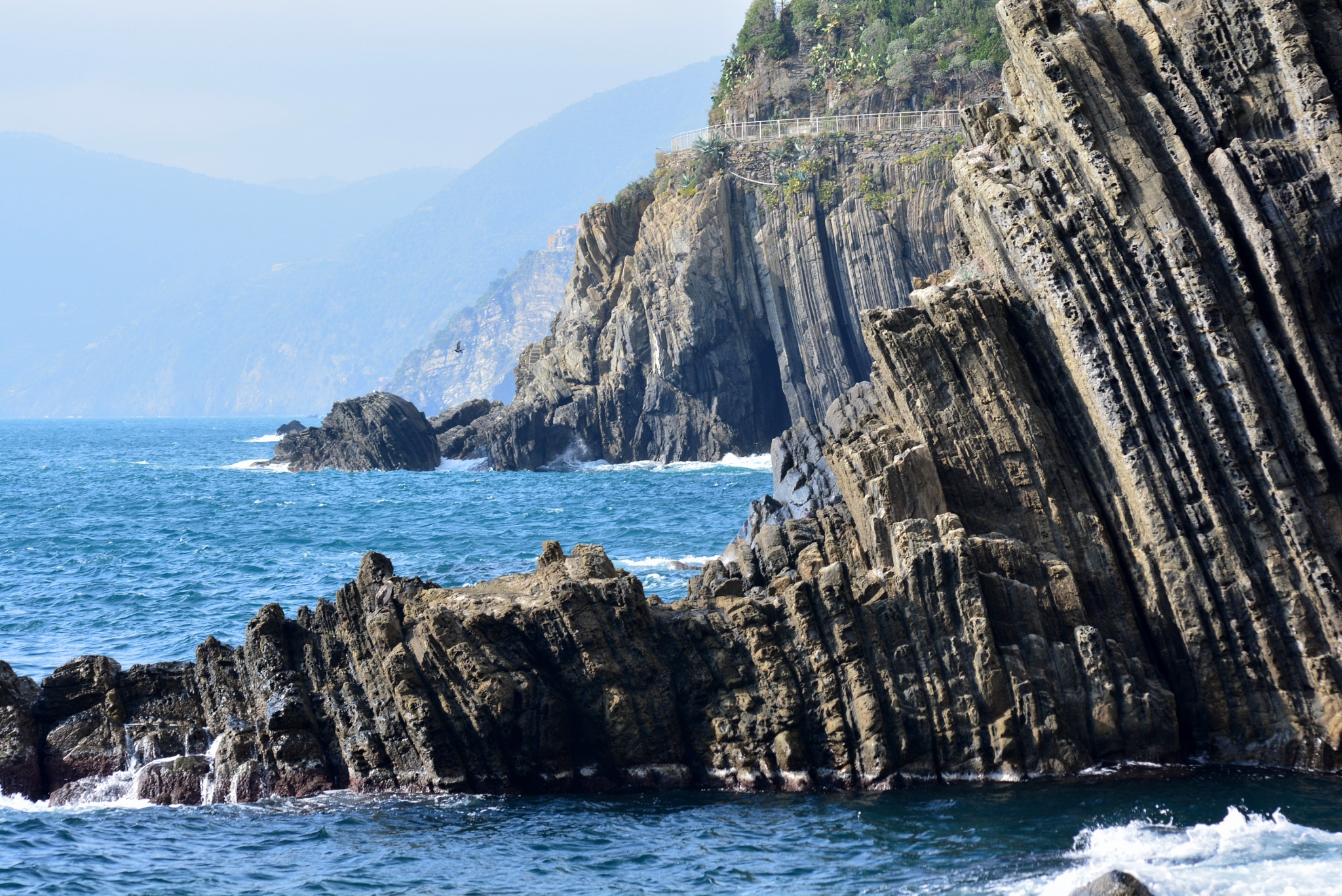 Cliff at Cinque Terre by HKS Images