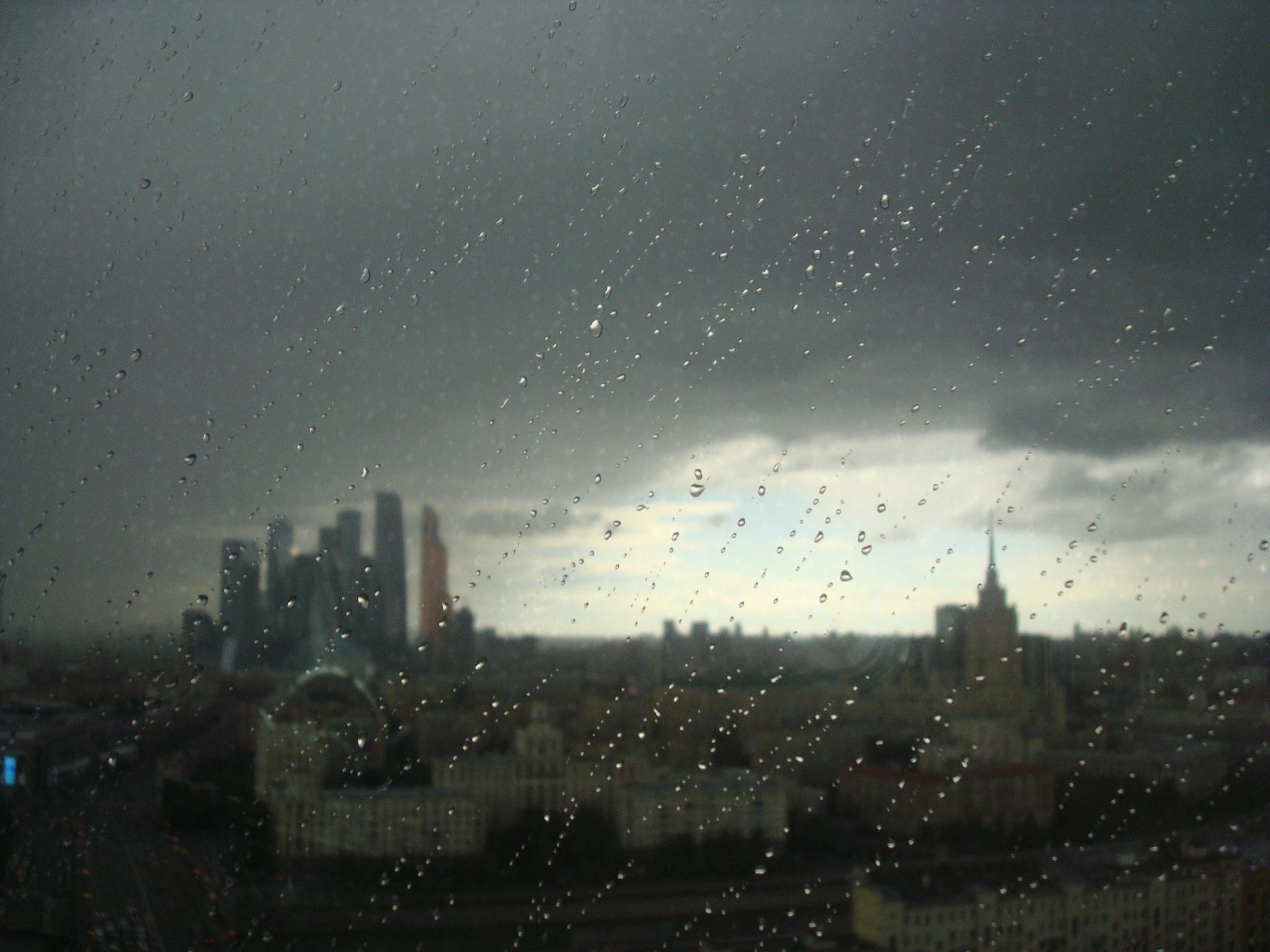 Rain on the window by SVK