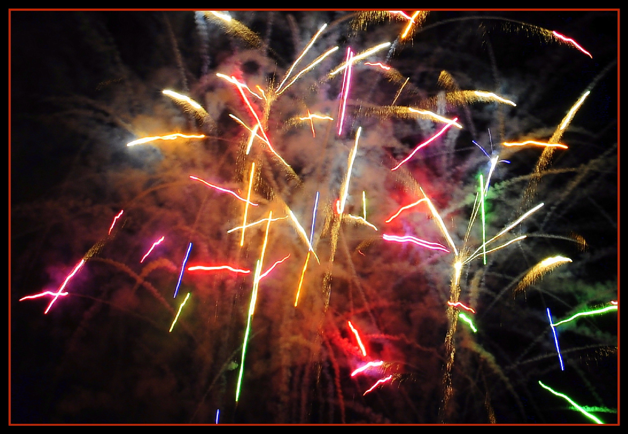 Photo in Abstract #fireworks #explosion #color
