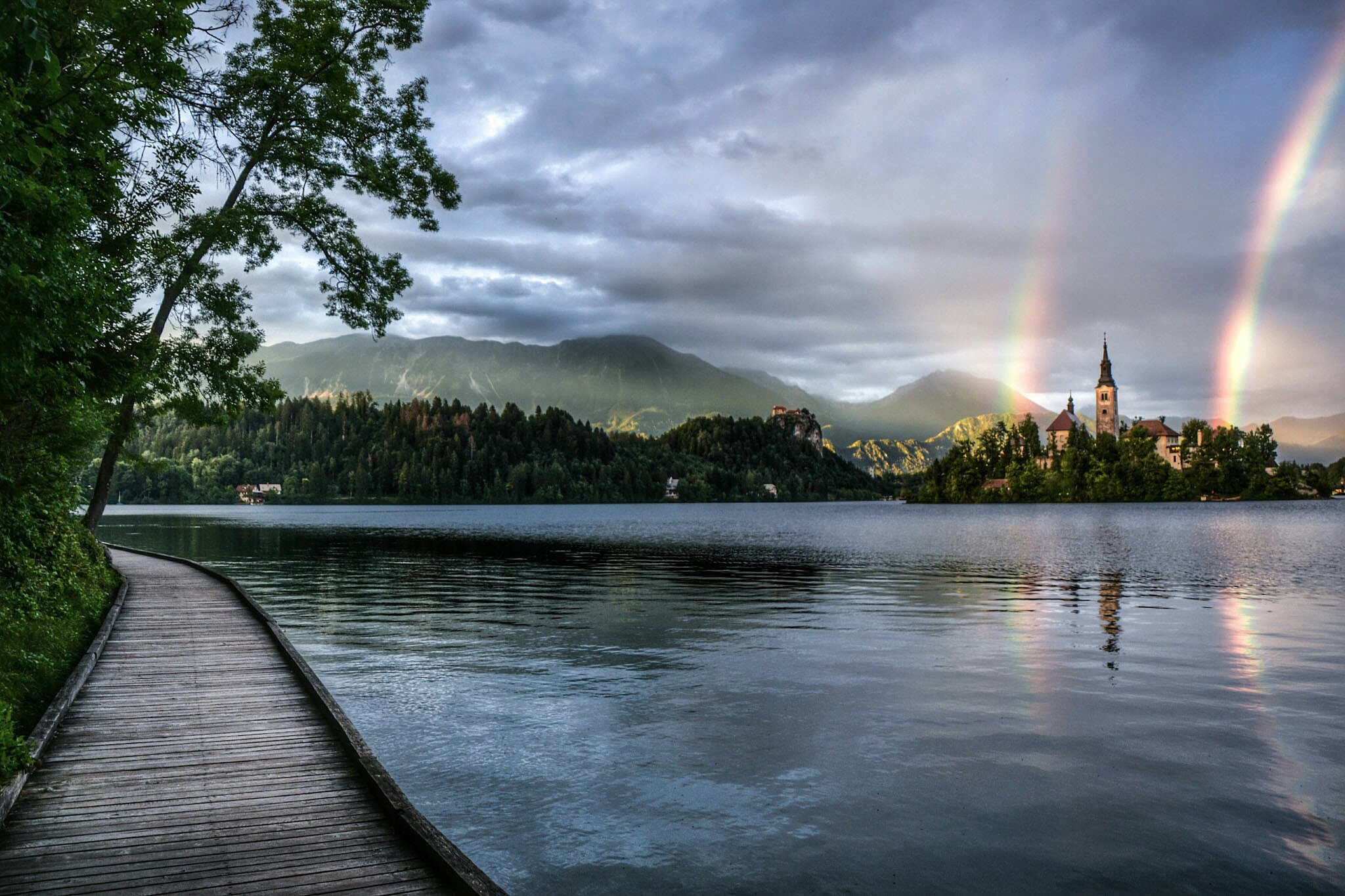 Lake Bled under colour attack  by zansfoto