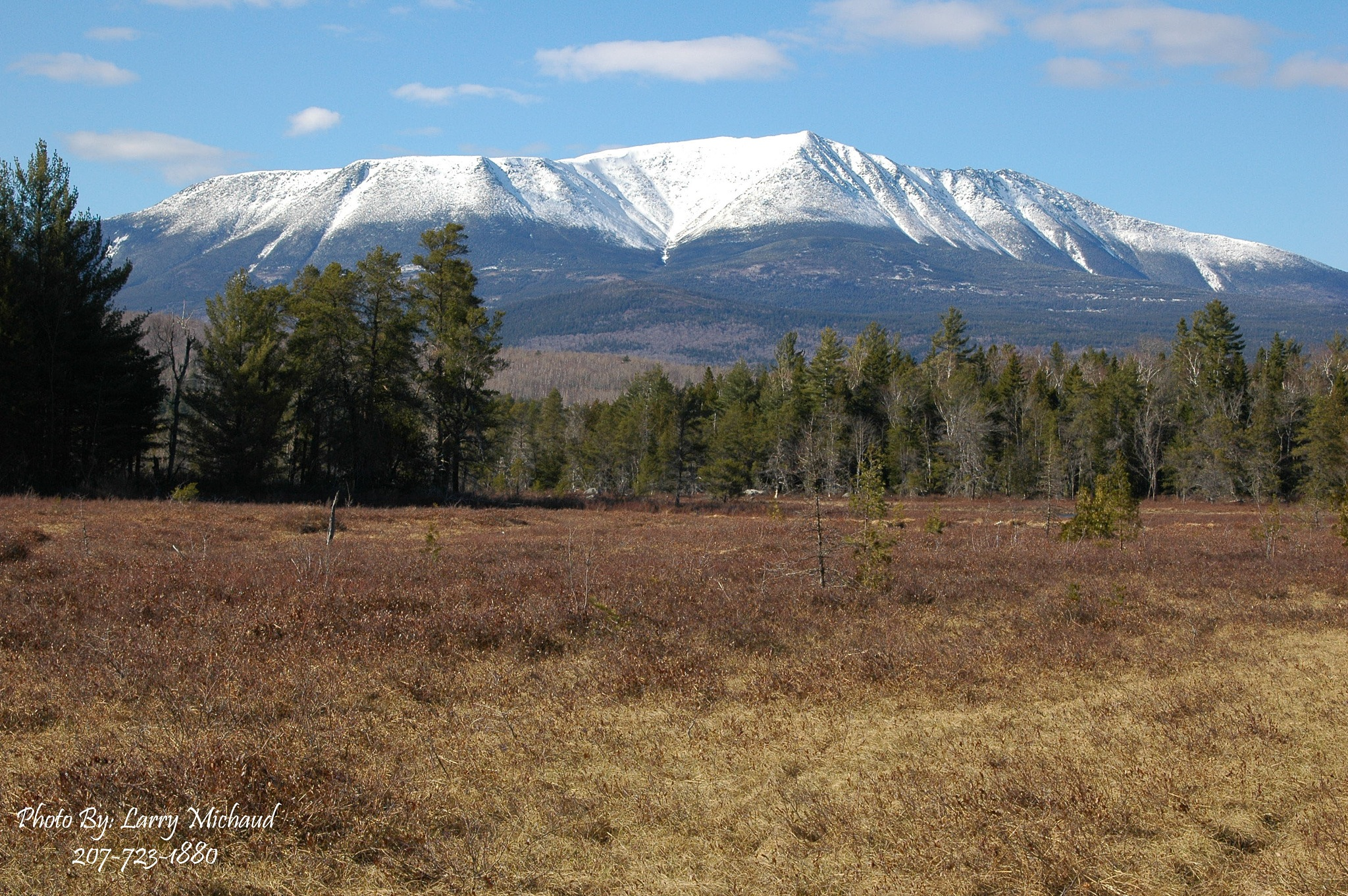 Mt Katahdin Early Spring by Larry