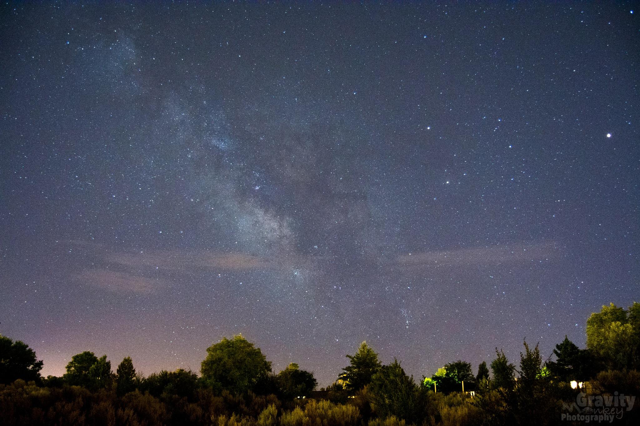 Santa Fe and the Milky Way by GravityMonkeyPhotography